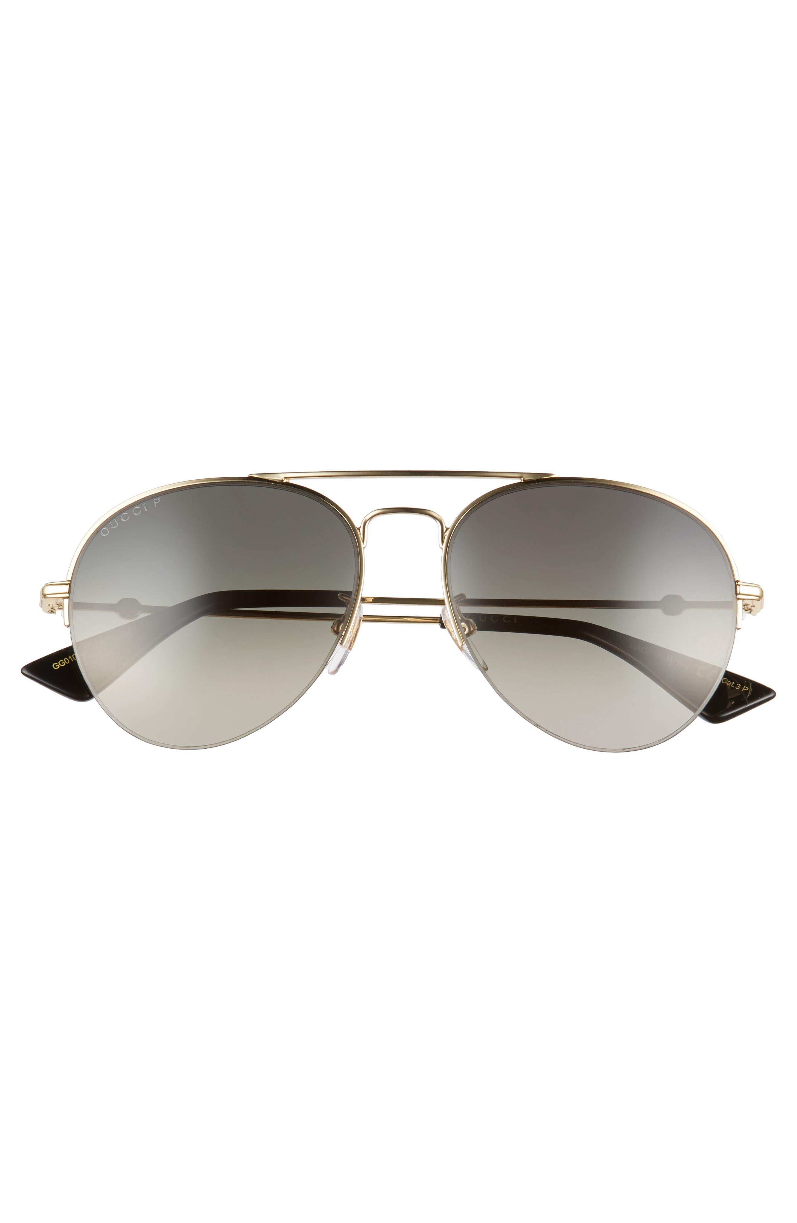 Pilot 56mm Aviator Sunglasses,                             Alternate thumbnail 2, color,                             GOLD