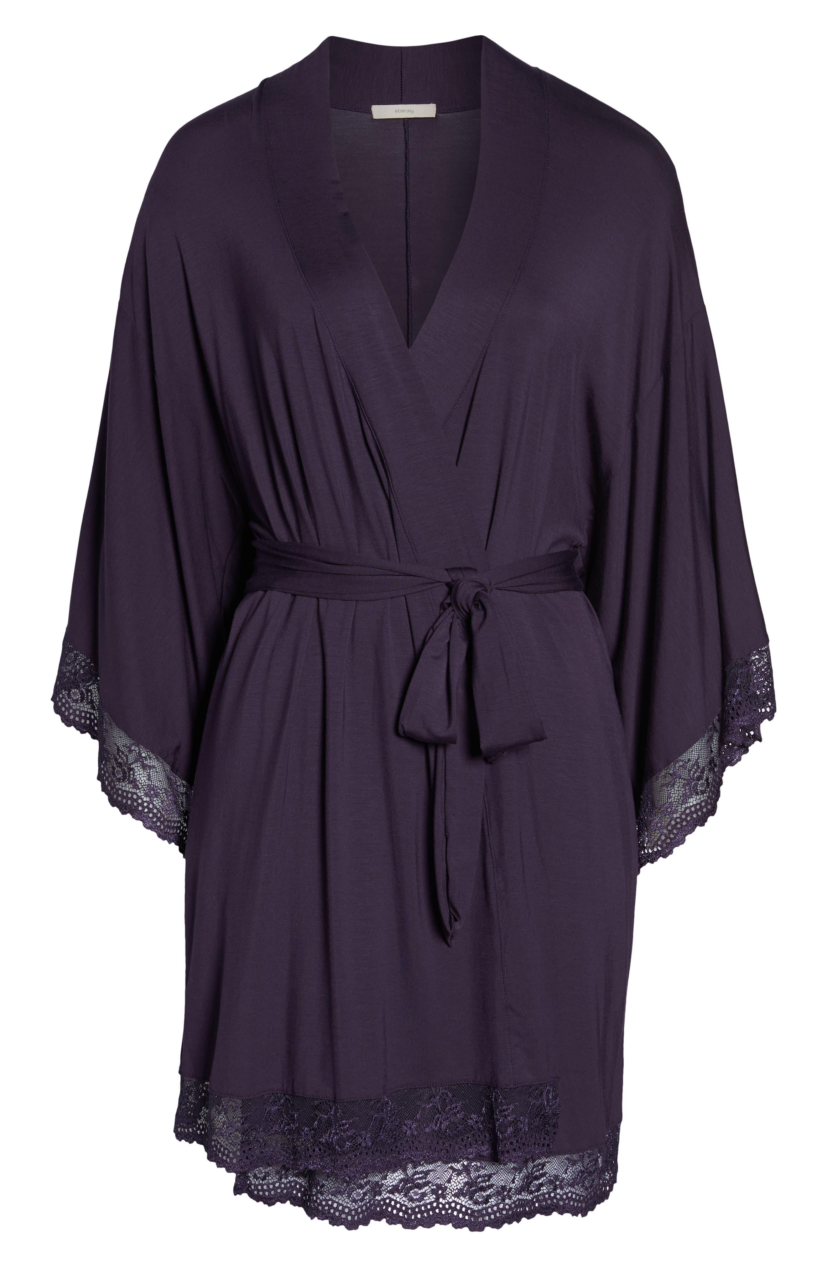 EBERJEY,                             'Colette' Kimono Robe,                             Alternate thumbnail 6, color,                             MYSTERIOSO