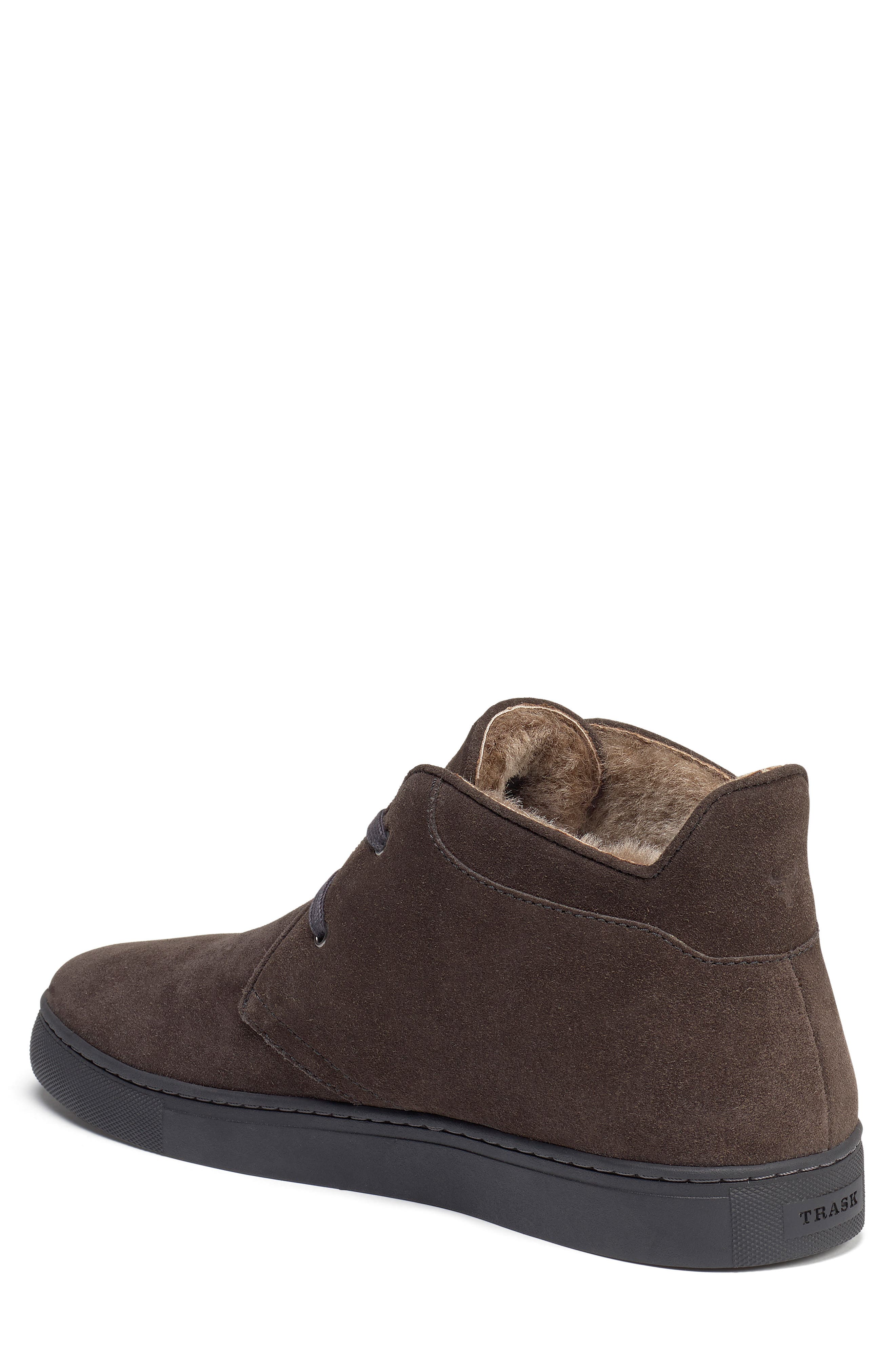 Ariston Genuine Shearling Chukka Boot,                             Alternate thumbnail 2, color,                             CHARCOAL SUEDE