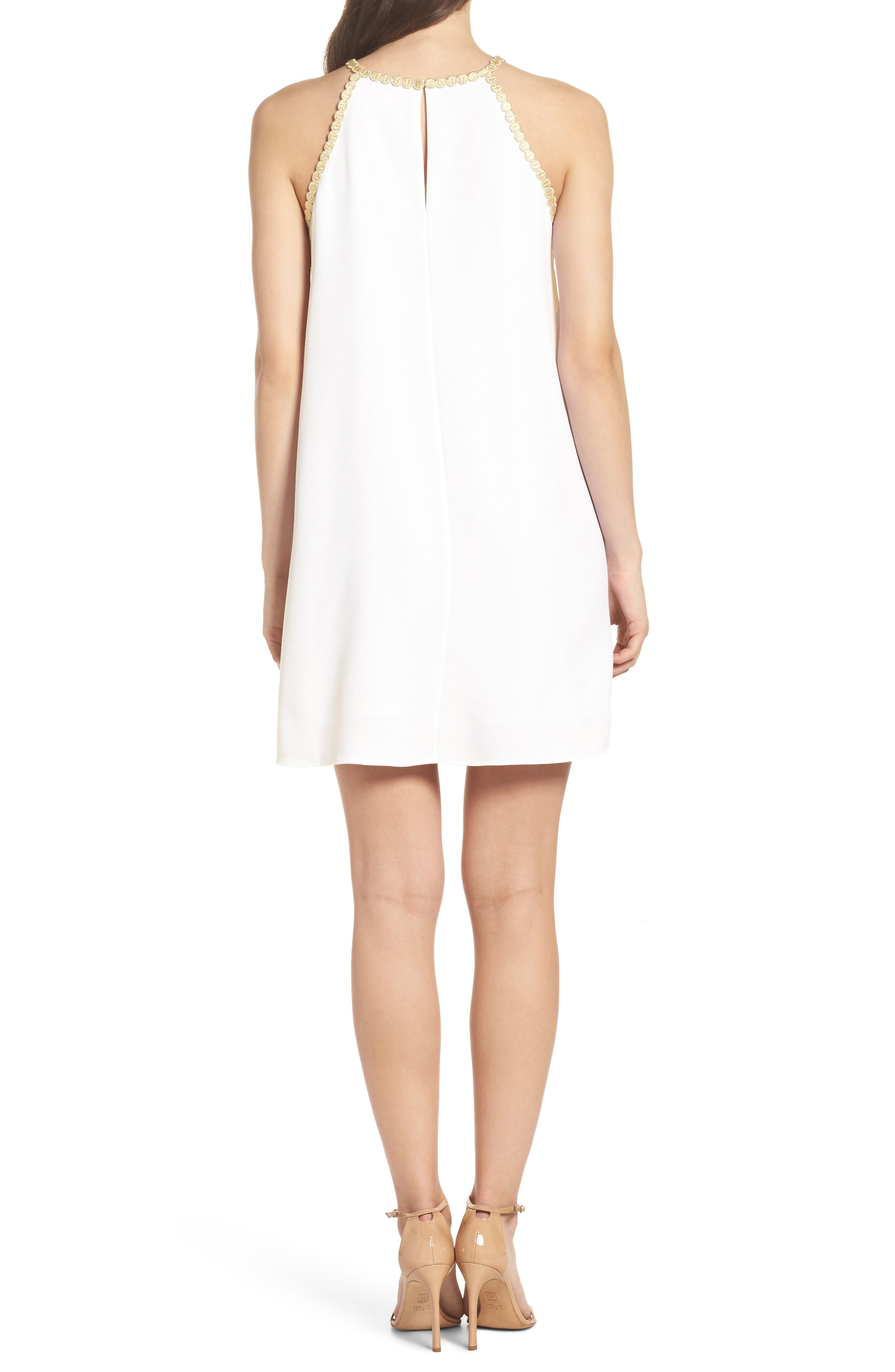 LILLY PULITZER<SUP>®</SUP>,                             Pearl Shift Dress,                             Alternate thumbnail 2, color,                             100