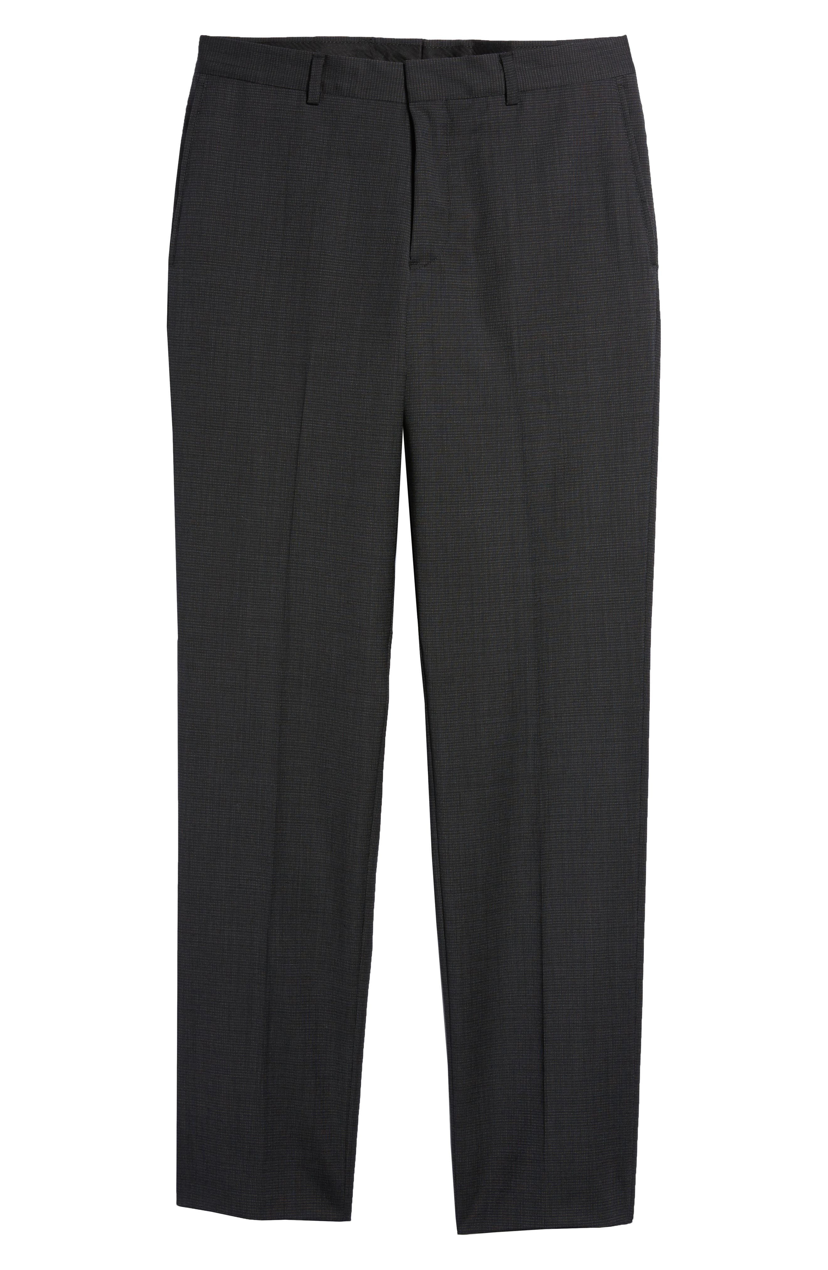 Tech-Smart Flat Front Stretch Wool Pants,                             Alternate thumbnail 6, color,                             021