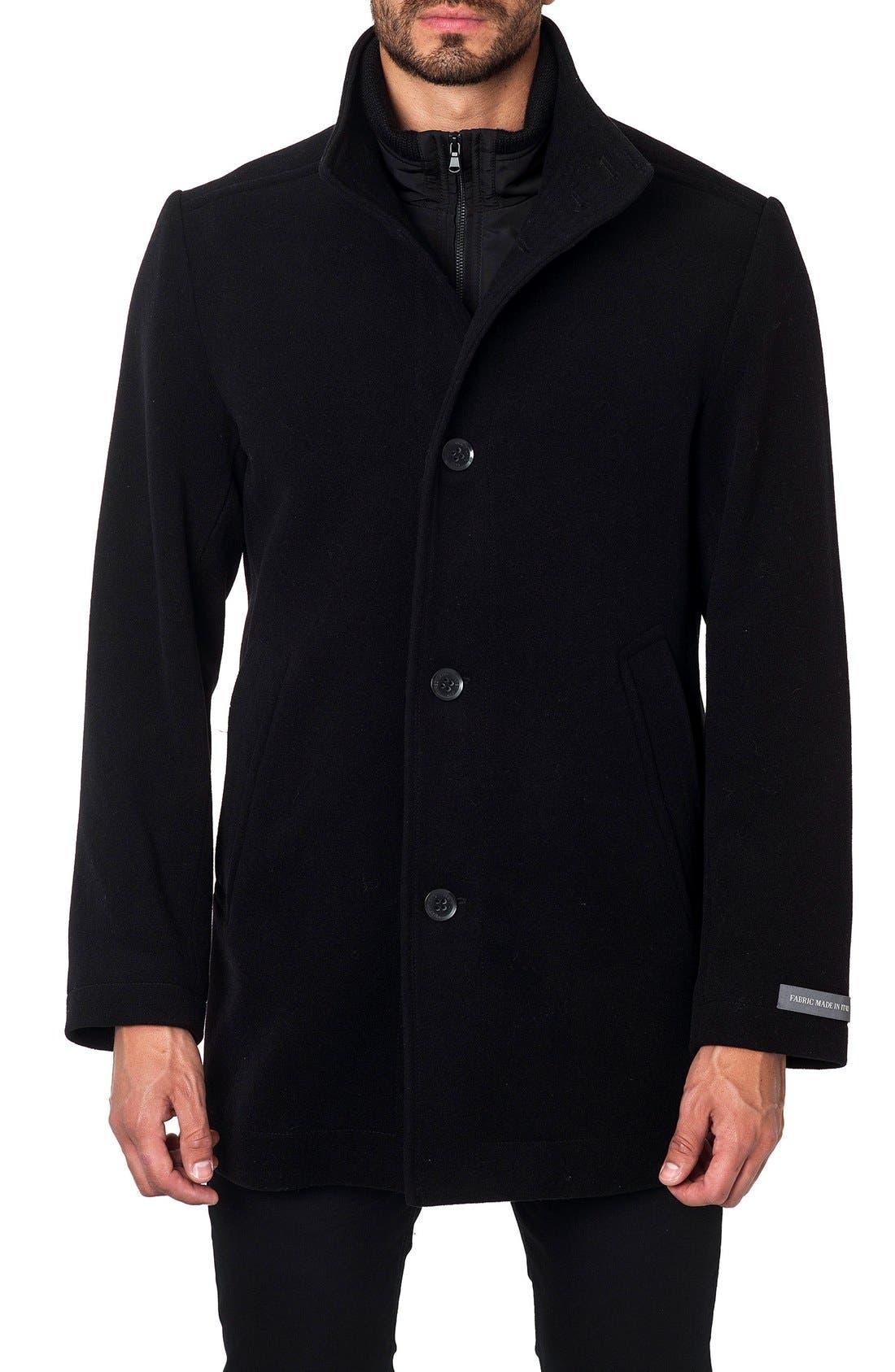Wool Blend Coat,                         Main,                         color, 001