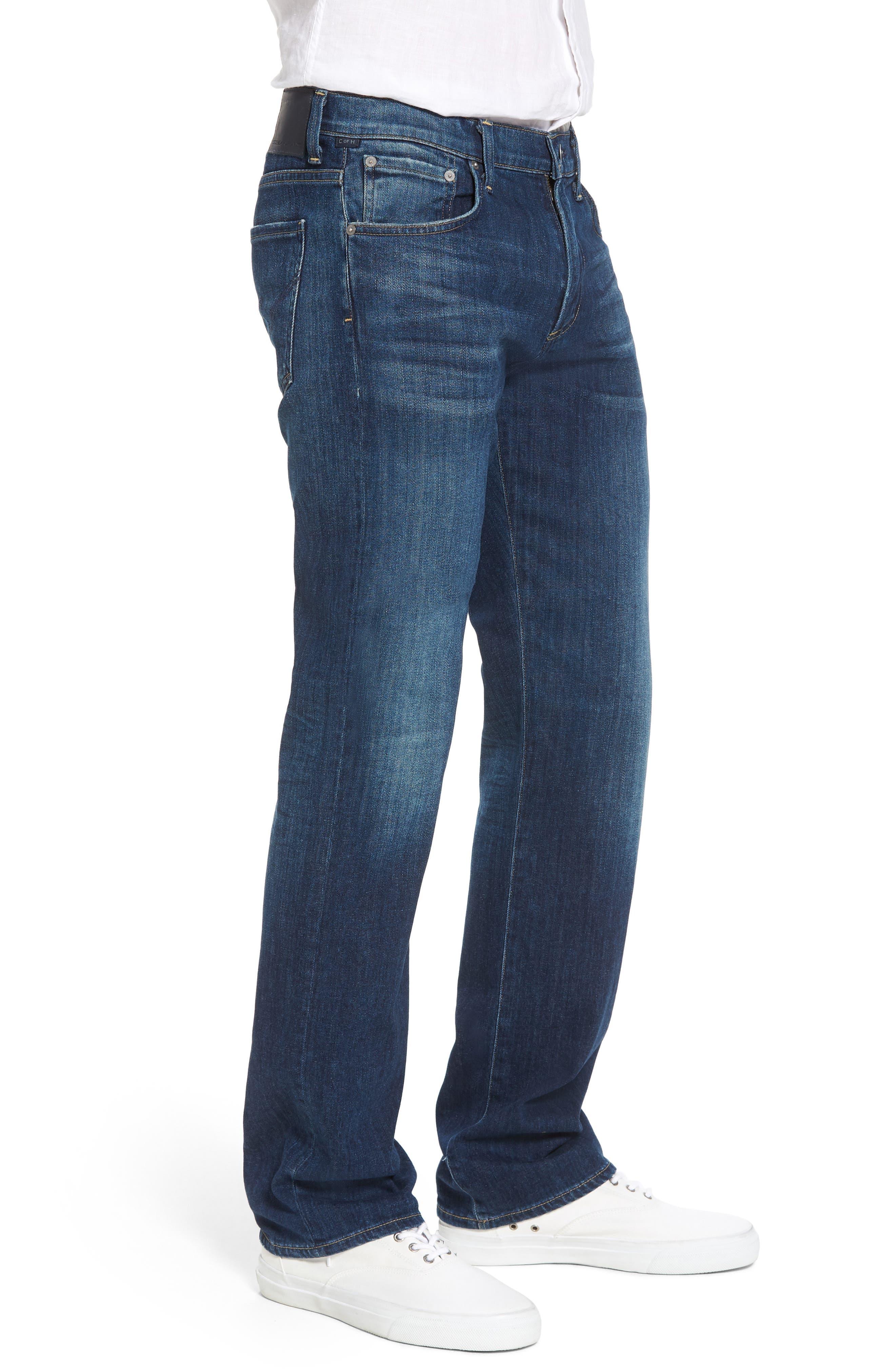 Sid Straight Leg Jeans,                             Alternate thumbnail 3, color,                             ADLER