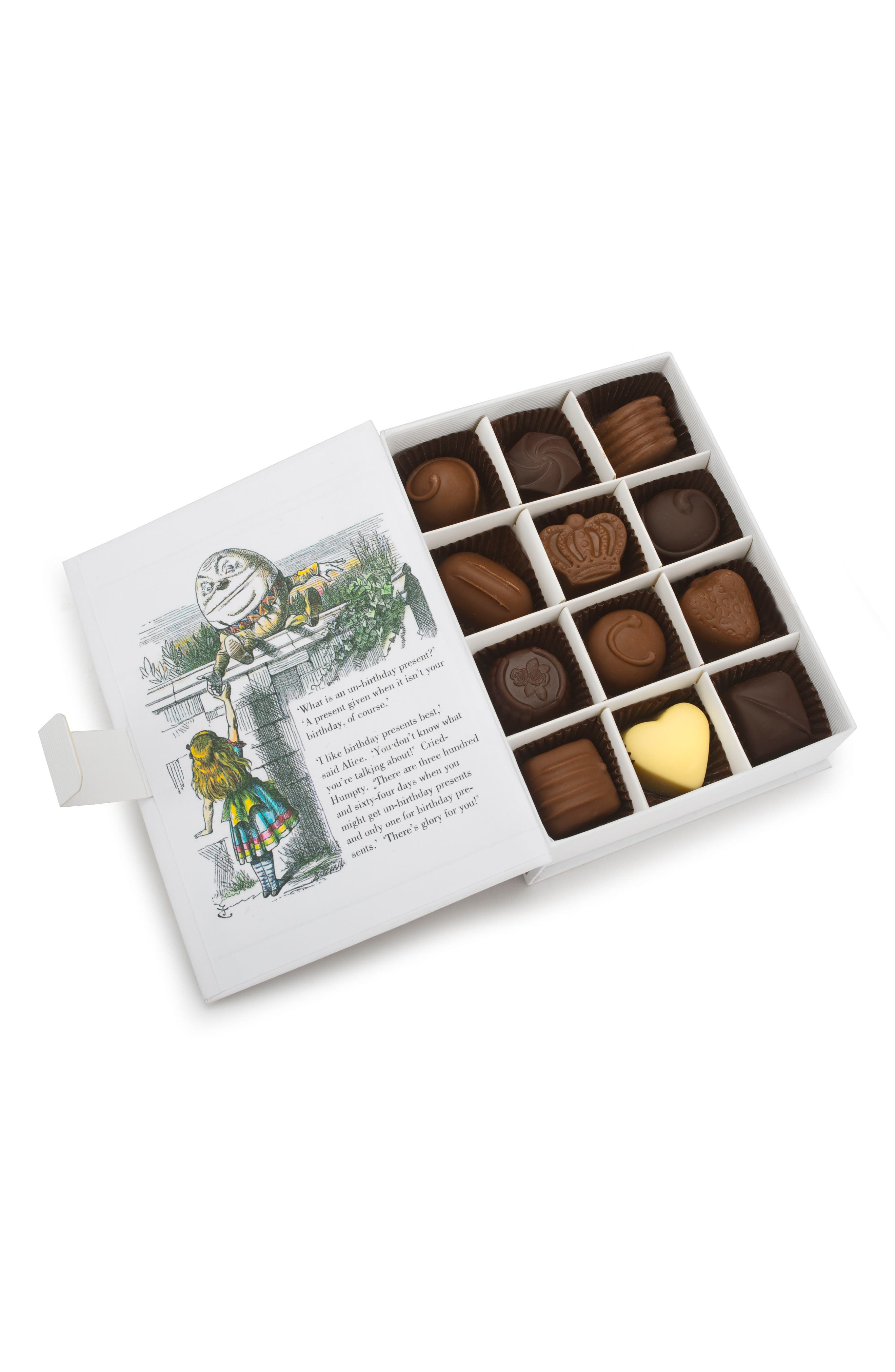 Fine Chocolate Selection in Alice Through the Looking Glass Gift Box,                             Alternate thumbnail 2, color,                             100