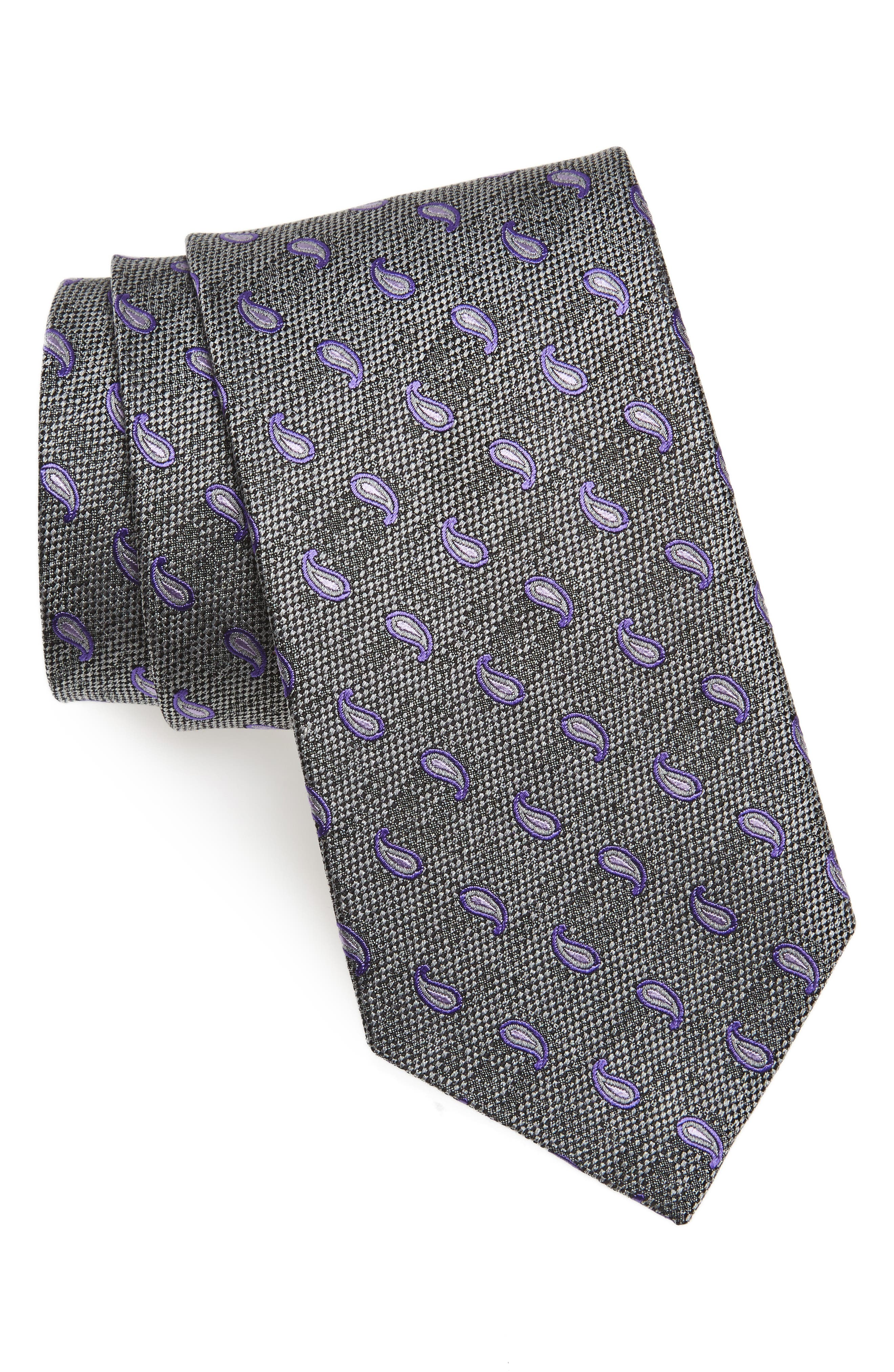 Paisley Silk Tie,                             Main thumbnail 1, color,                             025