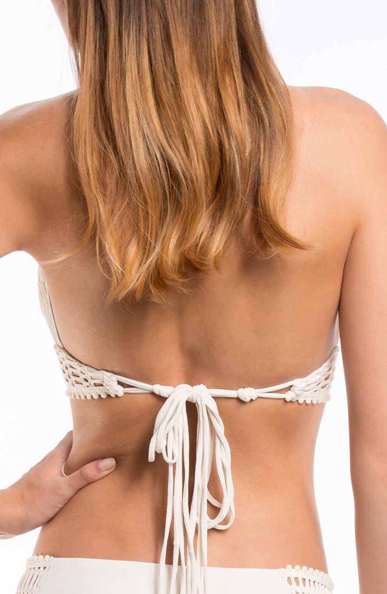 'Sophia' Crochet Halter Bikini Top,                             Alternate thumbnail 10, color,