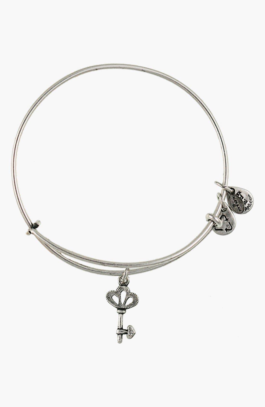 'Skeleton Key' Expandable Wire Bangle, Main, color, 040