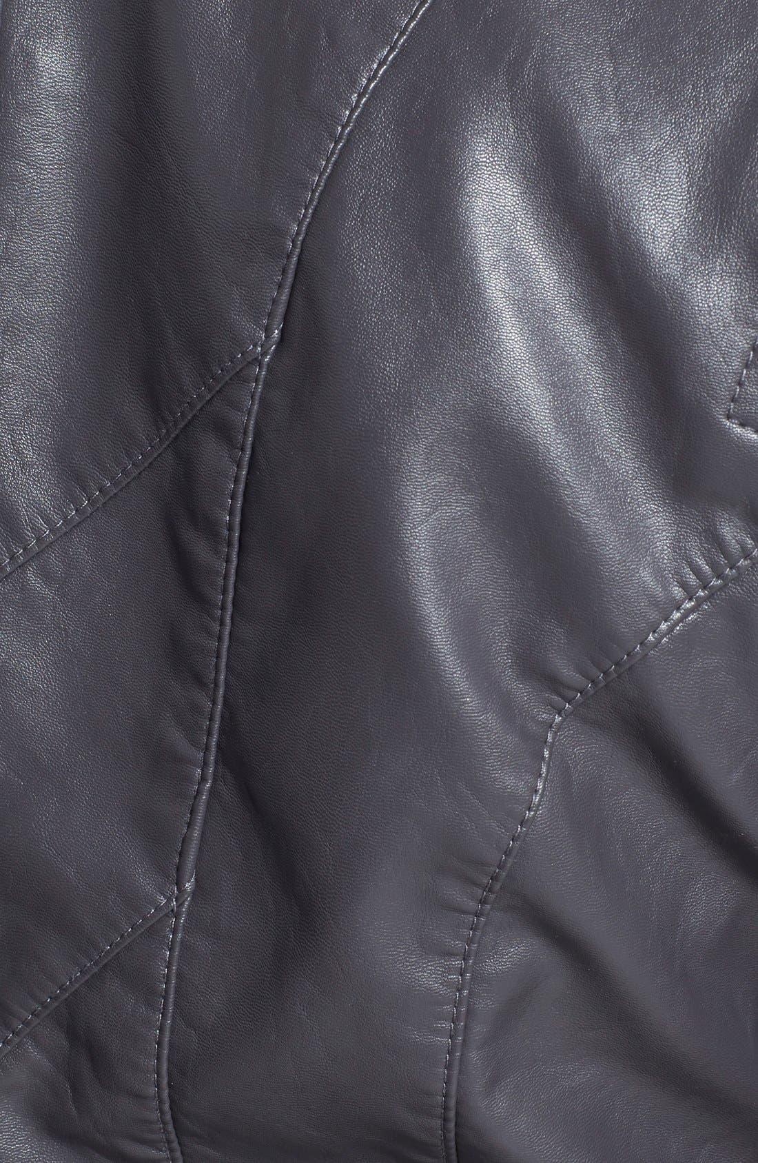 Faux Leather Jacket,                             Alternate thumbnail 27, color,