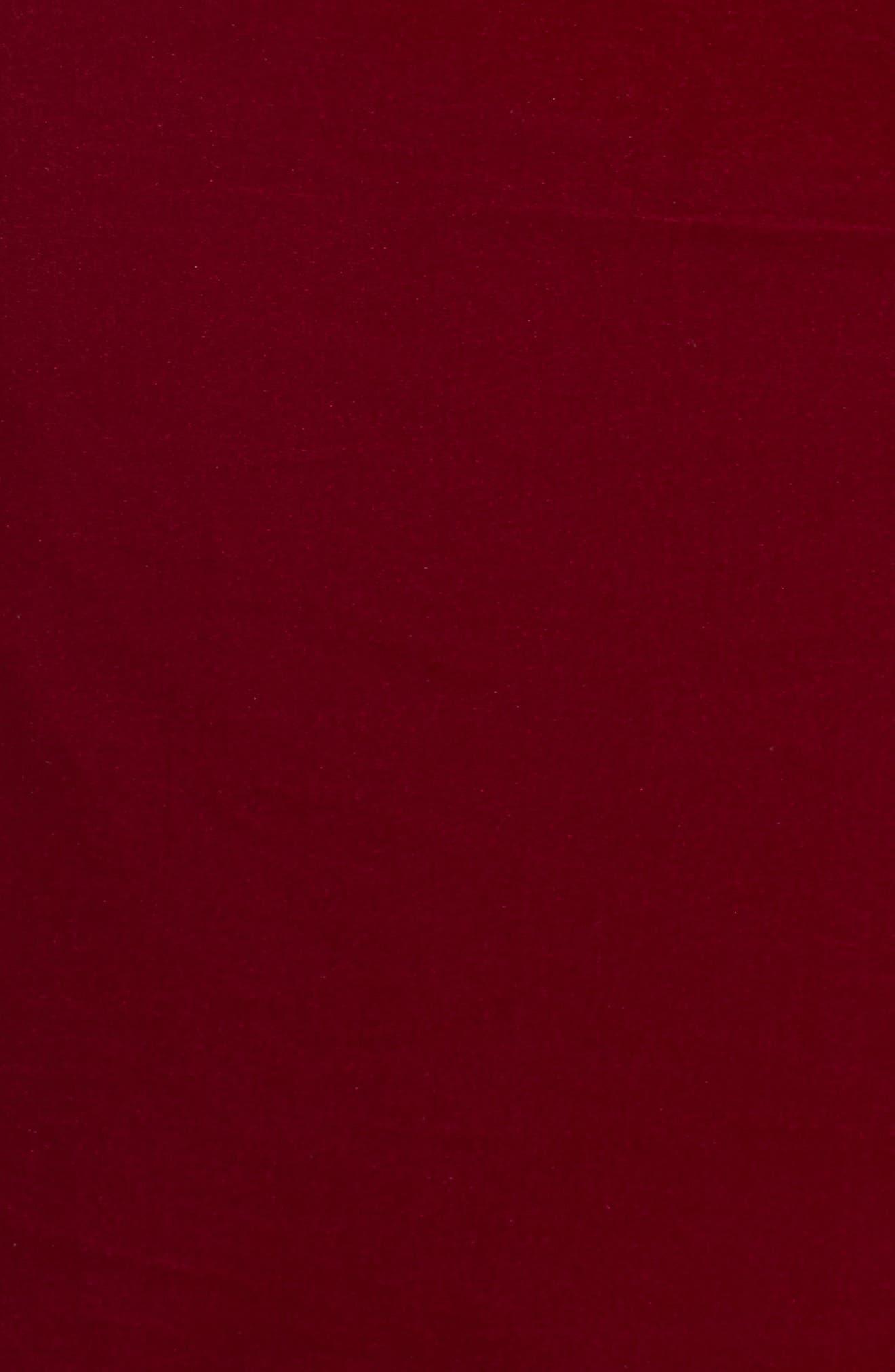 Elbow Sleeve Velvet Sheath Dress,                             Alternate thumbnail 6, color,                             FUSCHIA