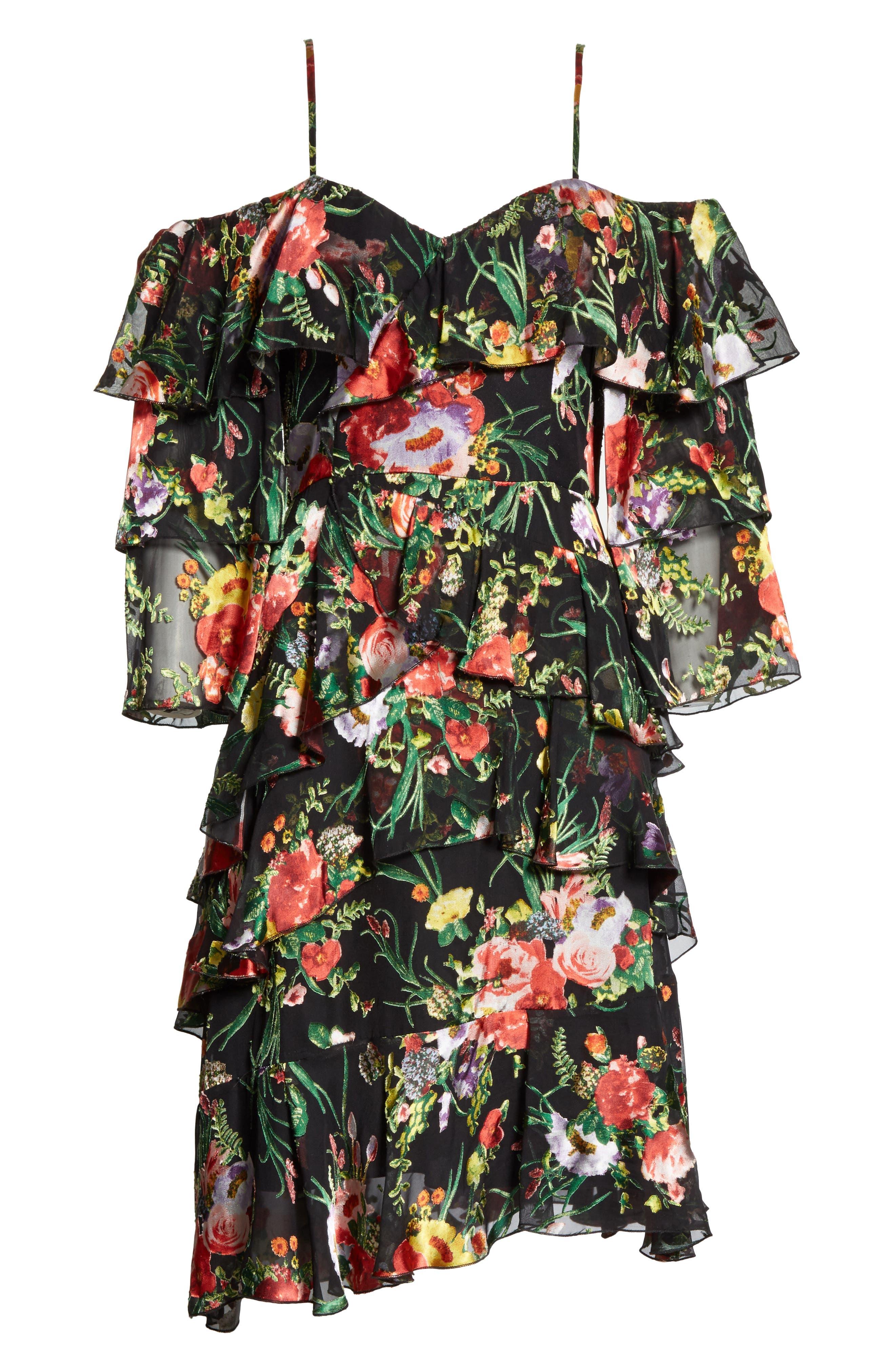 Florentina Off the Shoulder Dress,                             Alternate thumbnail 6, color,                             001