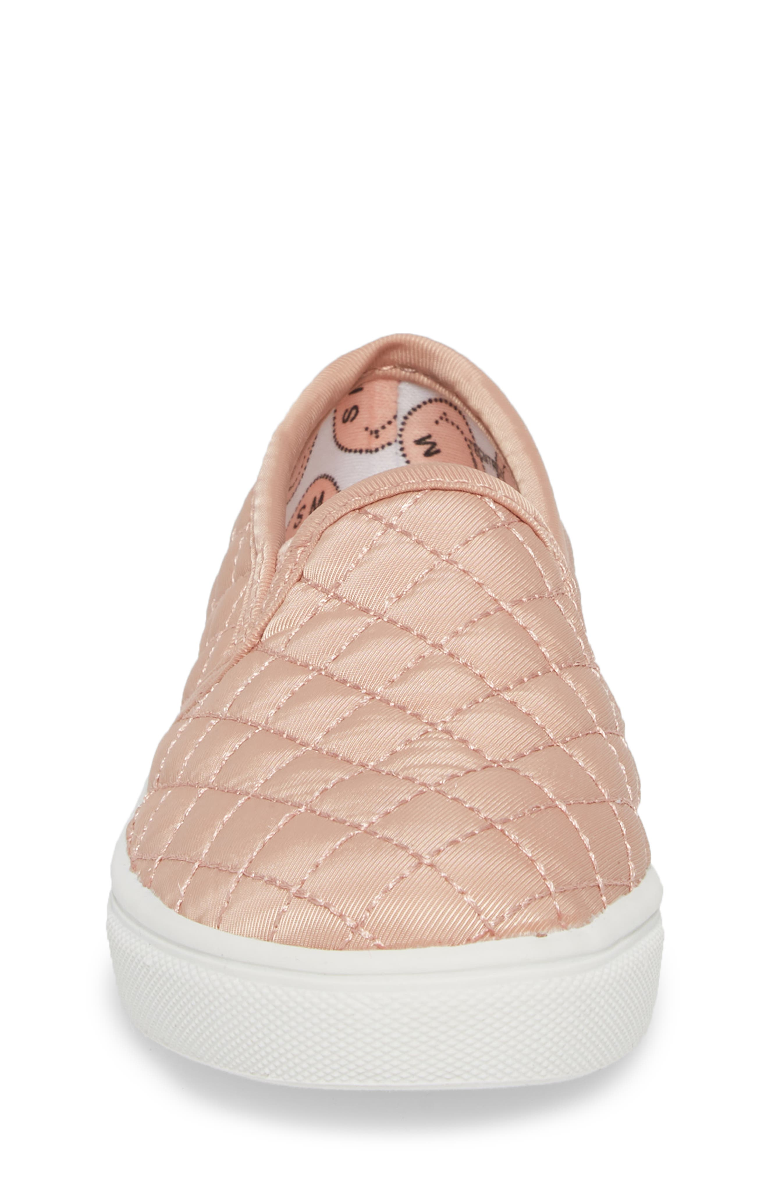 Tecntrc Quilted Slip-On Sneaker,                             Alternate thumbnail 4, color,                             BLUSH