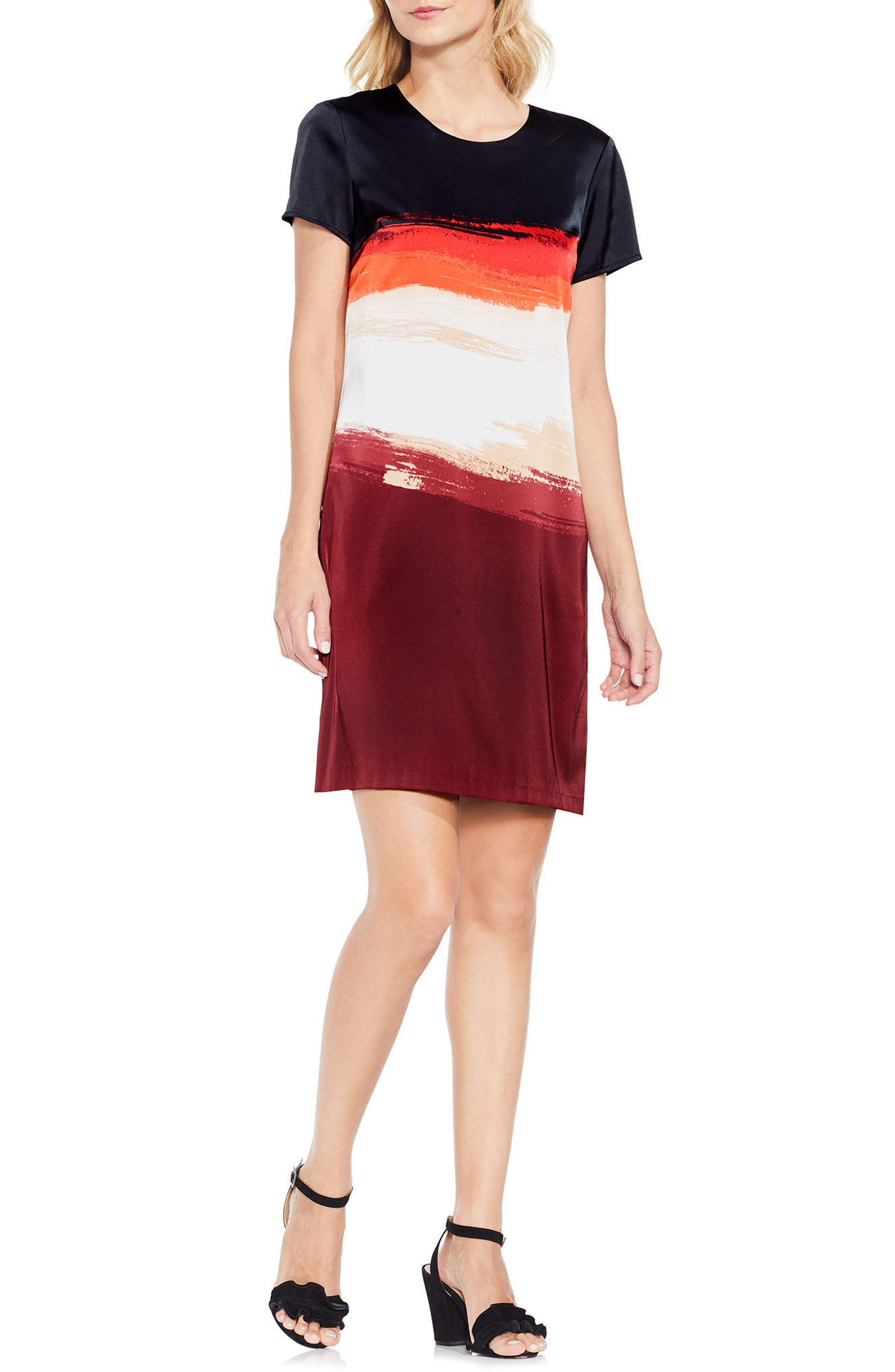 Brushstroke Horizons Dress,                             Main thumbnail 1, color,                             604