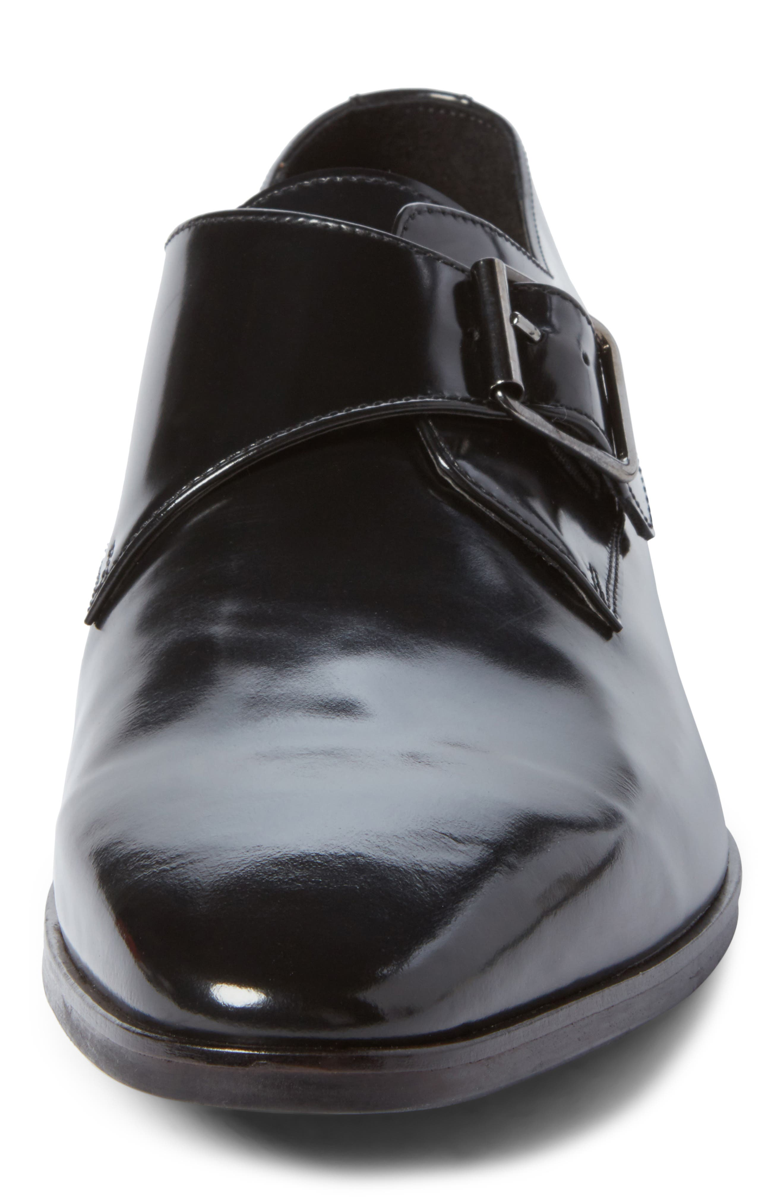 Webster Single Strap Monk Shoe,                             Alternate thumbnail 4, color,                             001