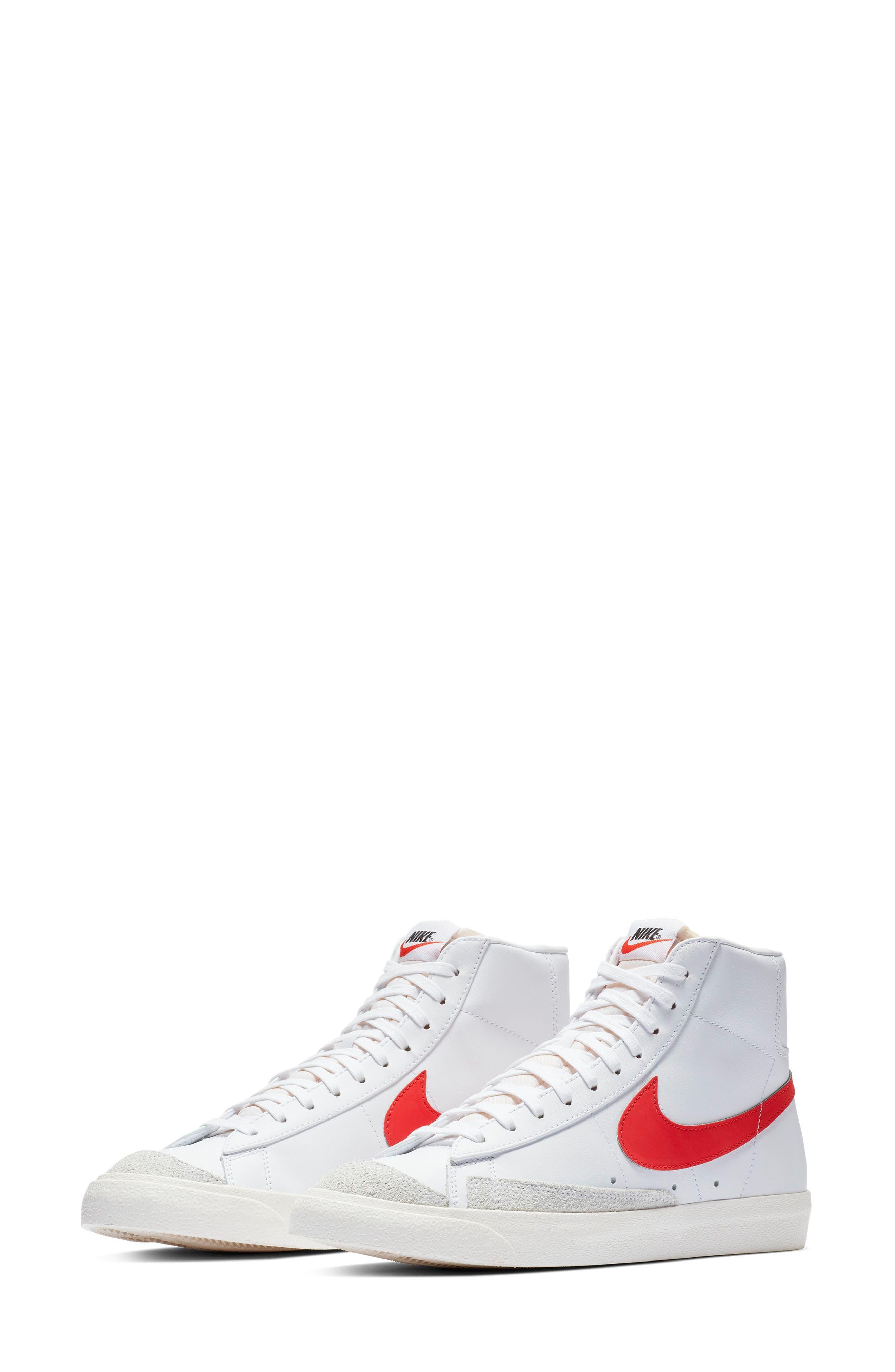 Blazer Mid '77 Vintage Sneaker,                             Main thumbnail 1, color,                             HABANERO RED/ SAIL/ WHITE