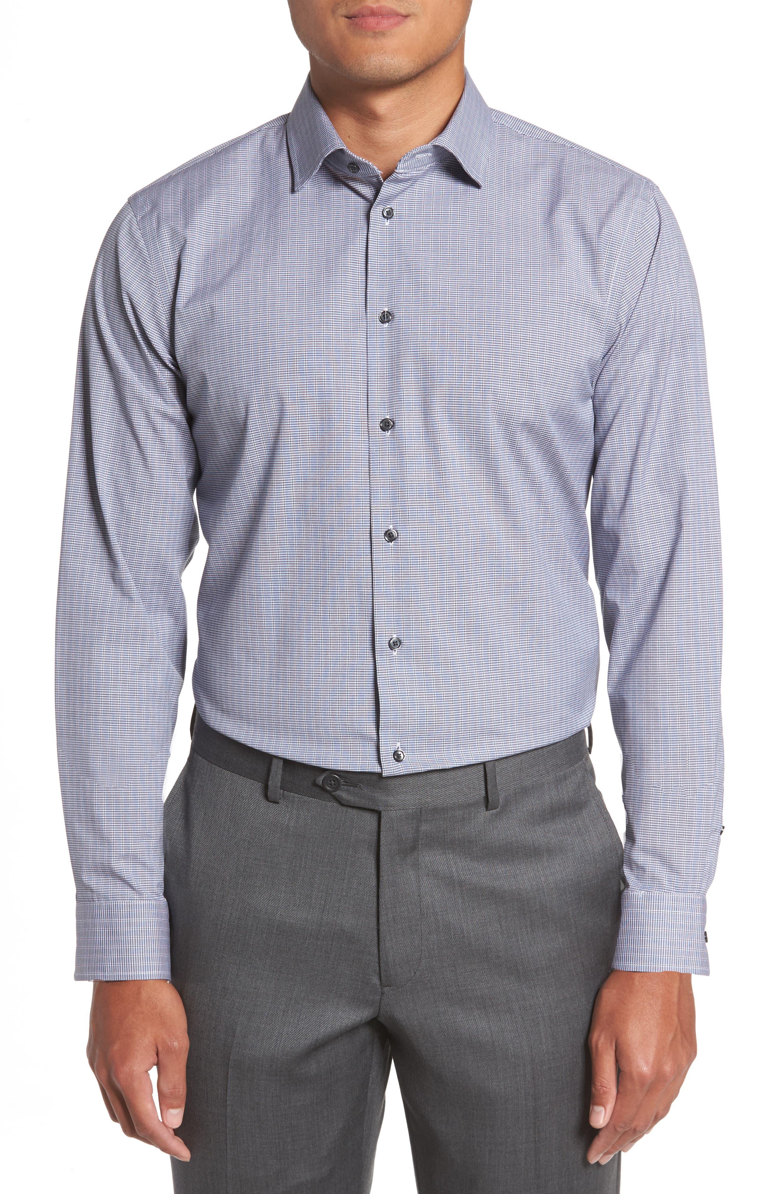 Trim Fit Non-Iron Dress Shirt,                         Main,                         color, 421