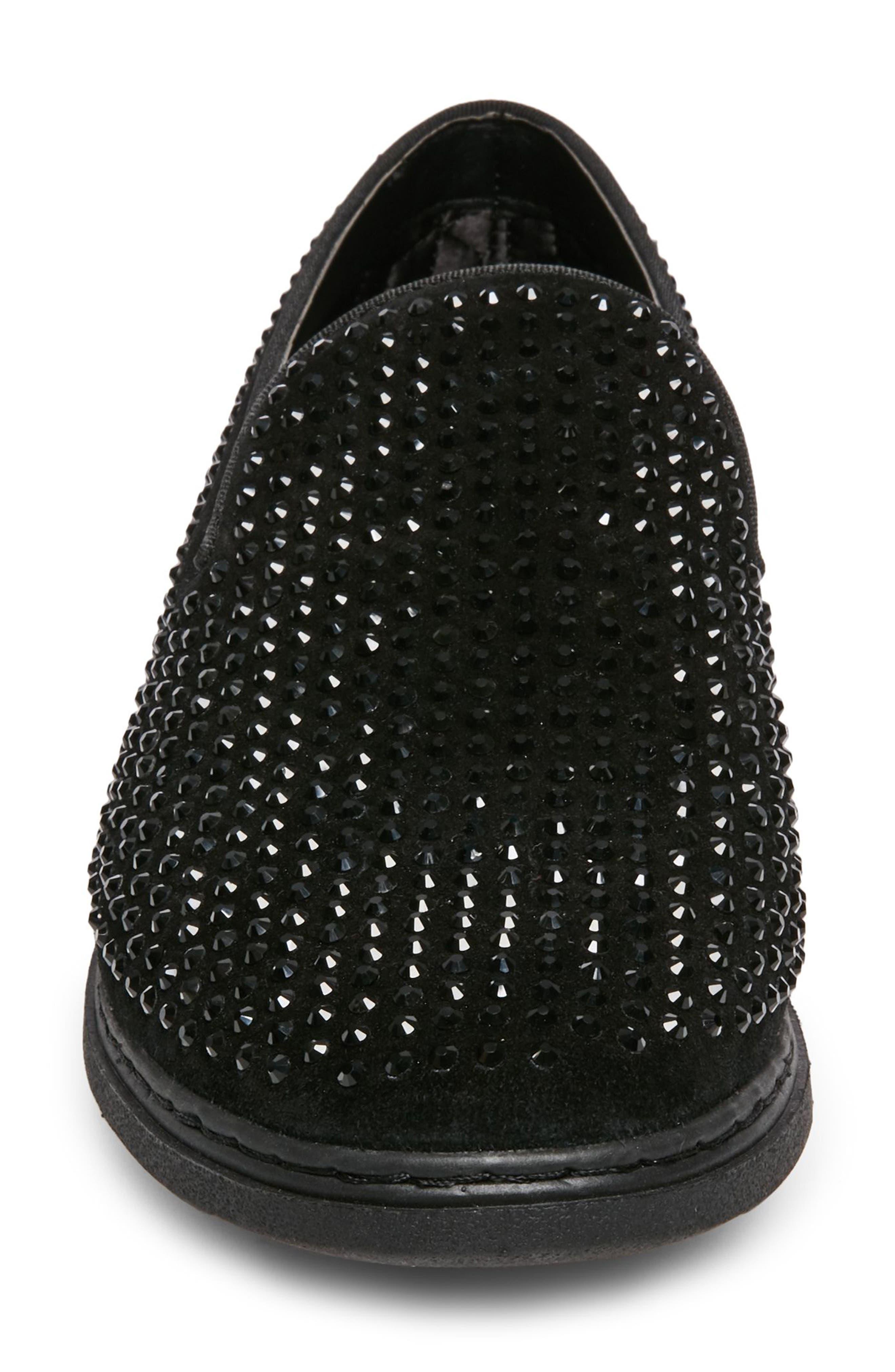 Grinder Embellished Venetian Loafer,                             Alternate thumbnail 4, color,                             BLACK LEATHER