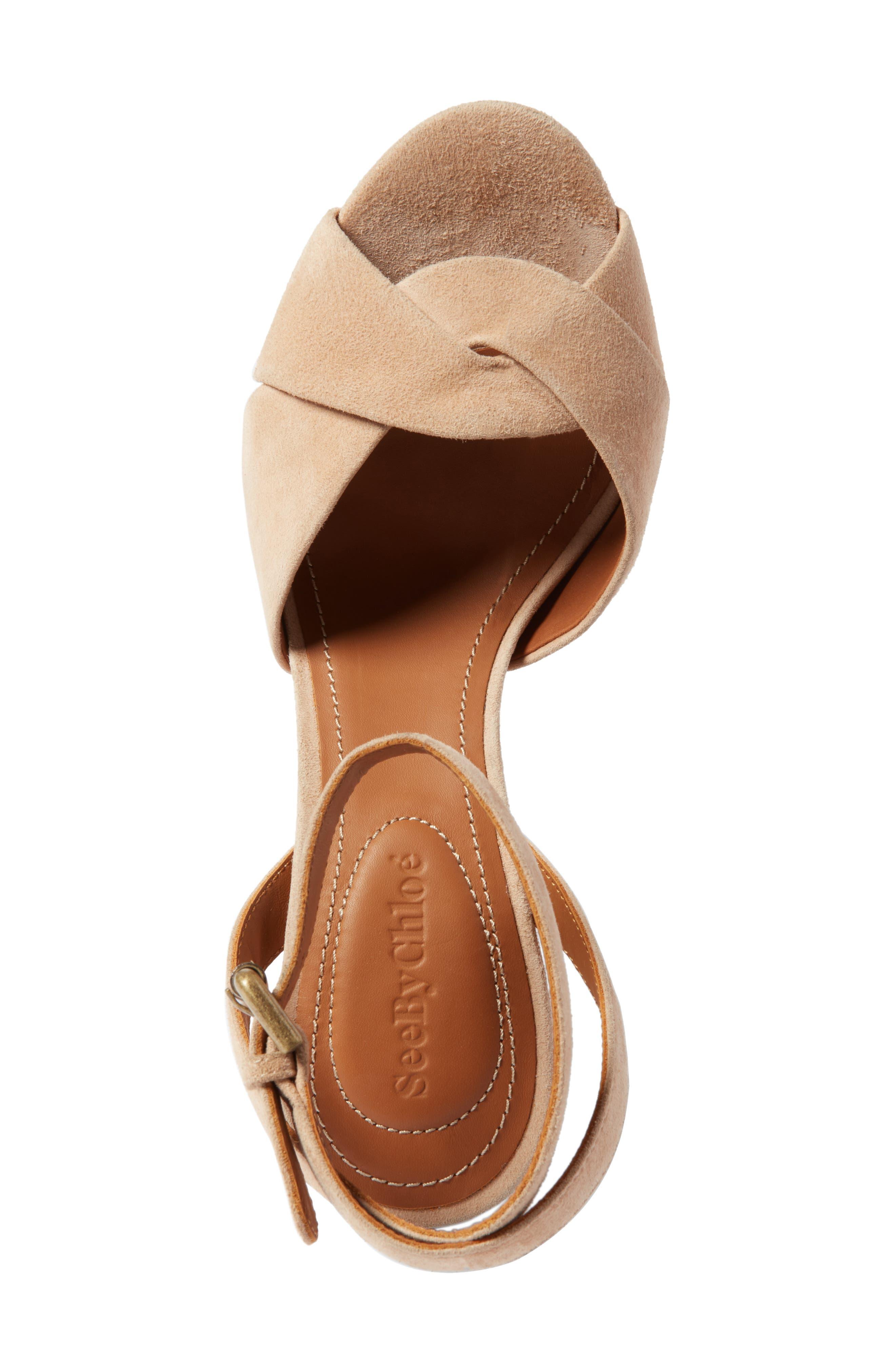 Gayla Embroidered Block Heel Sandal,                             Alternate thumbnail 5, color,                             250