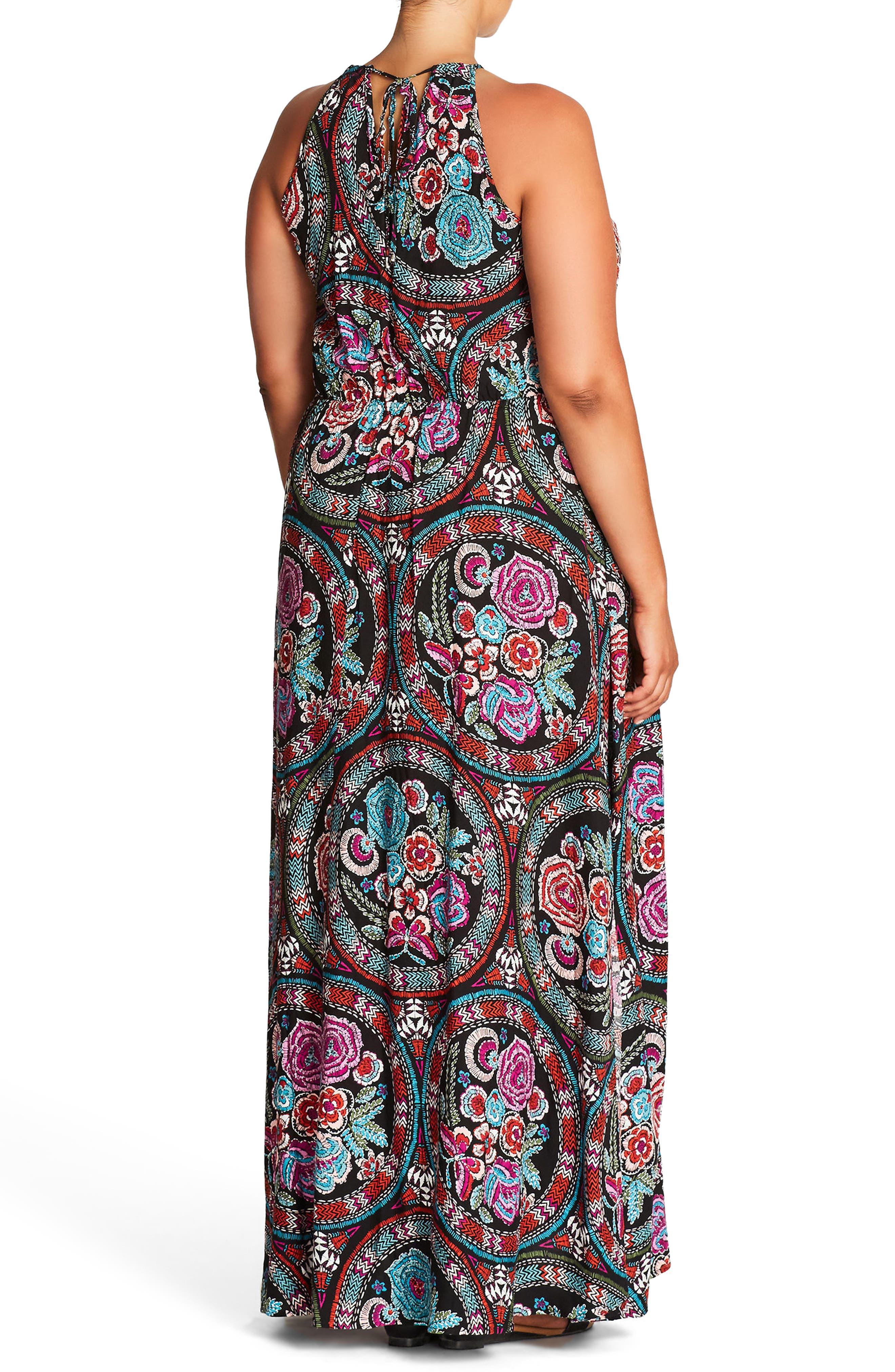 Folklore Maxi Dress,                             Alternate thumbnail 2, color,                             FOLKLORE