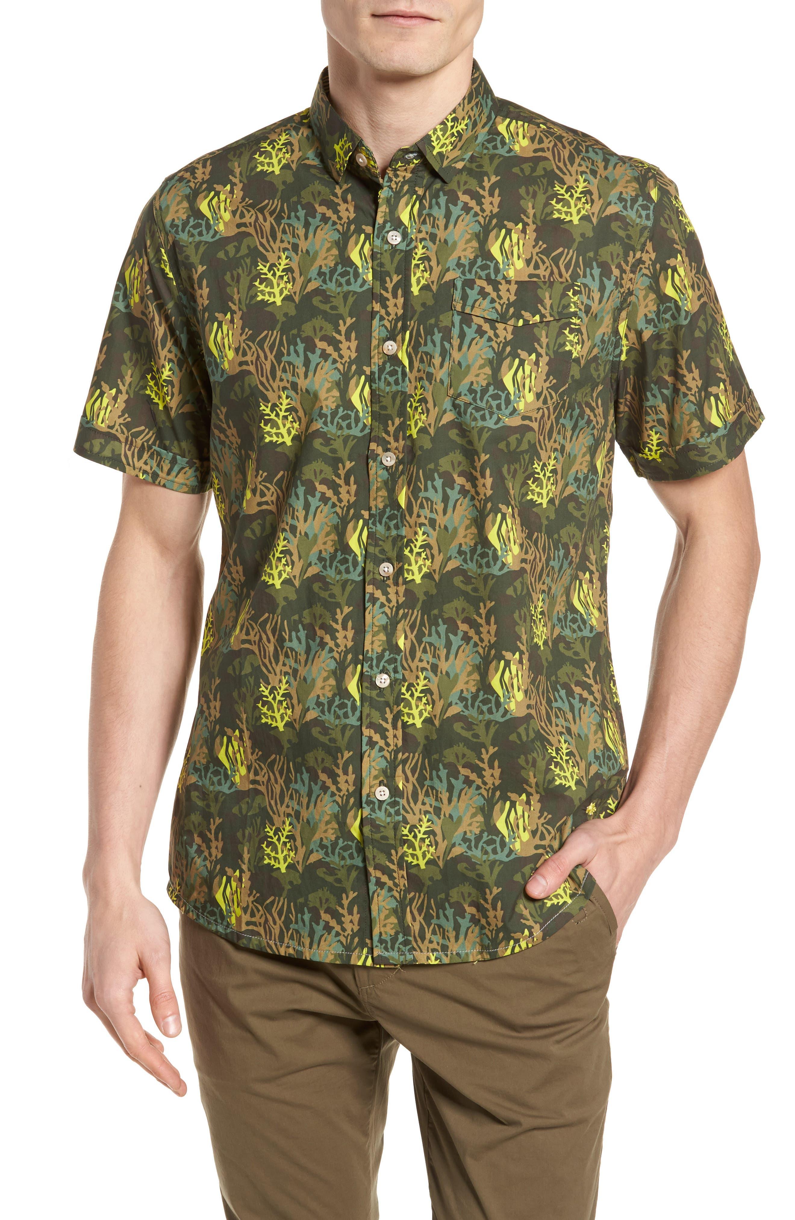 Bottom of The Ocean Woven Shirt,                             Main thumbnail 1, color,                             300