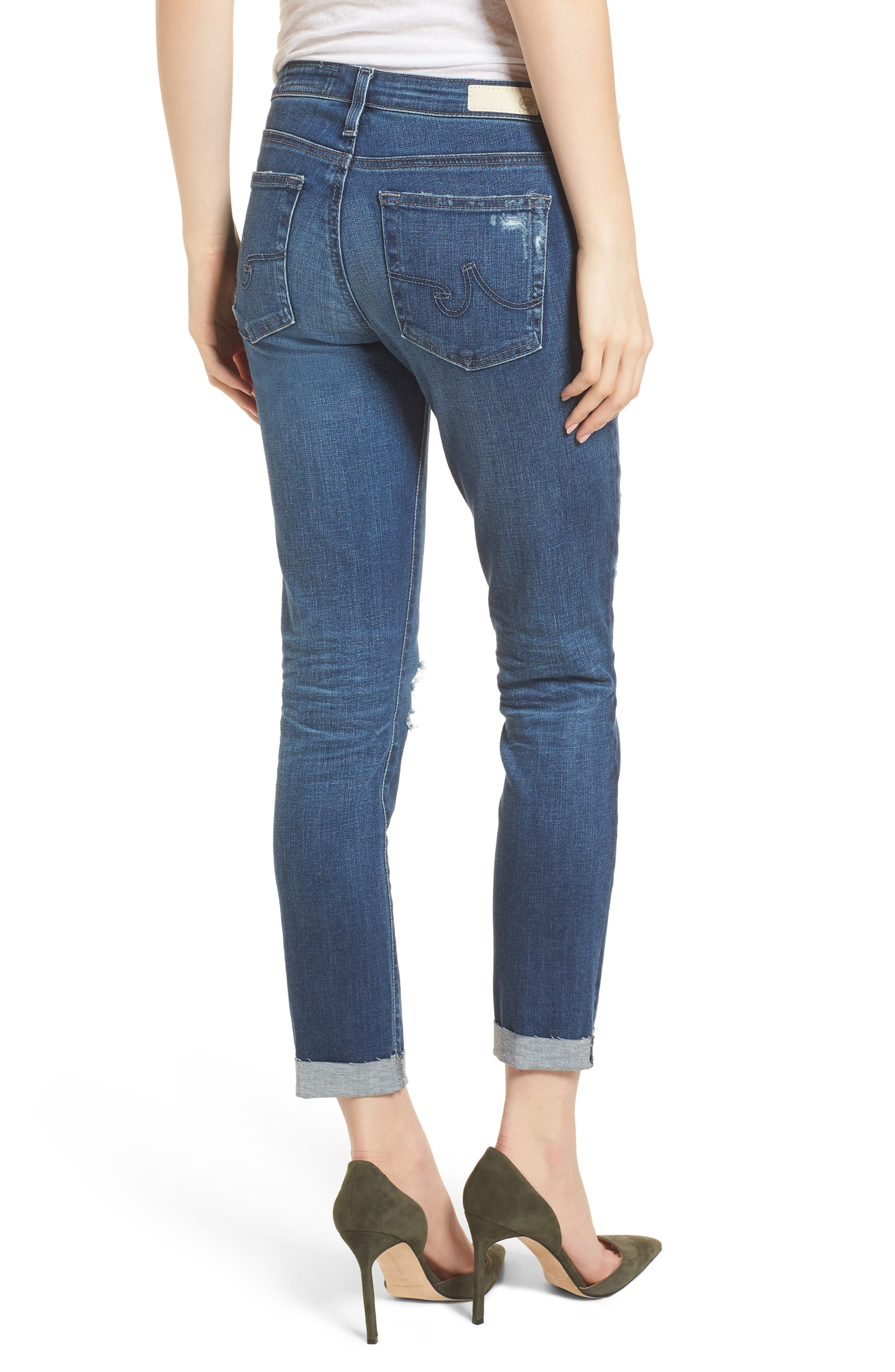 Prima Ripped Roll-Up Skinny Jeans,                             Alternate thumbnail 2, color,