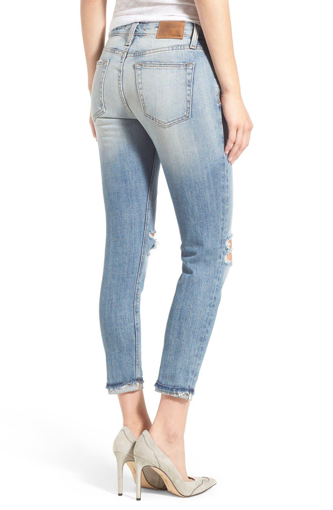'Collector's - Billie' Ankle Slim Boyfriend Jeans,                             Alternate thumbnail 3, color,                             430