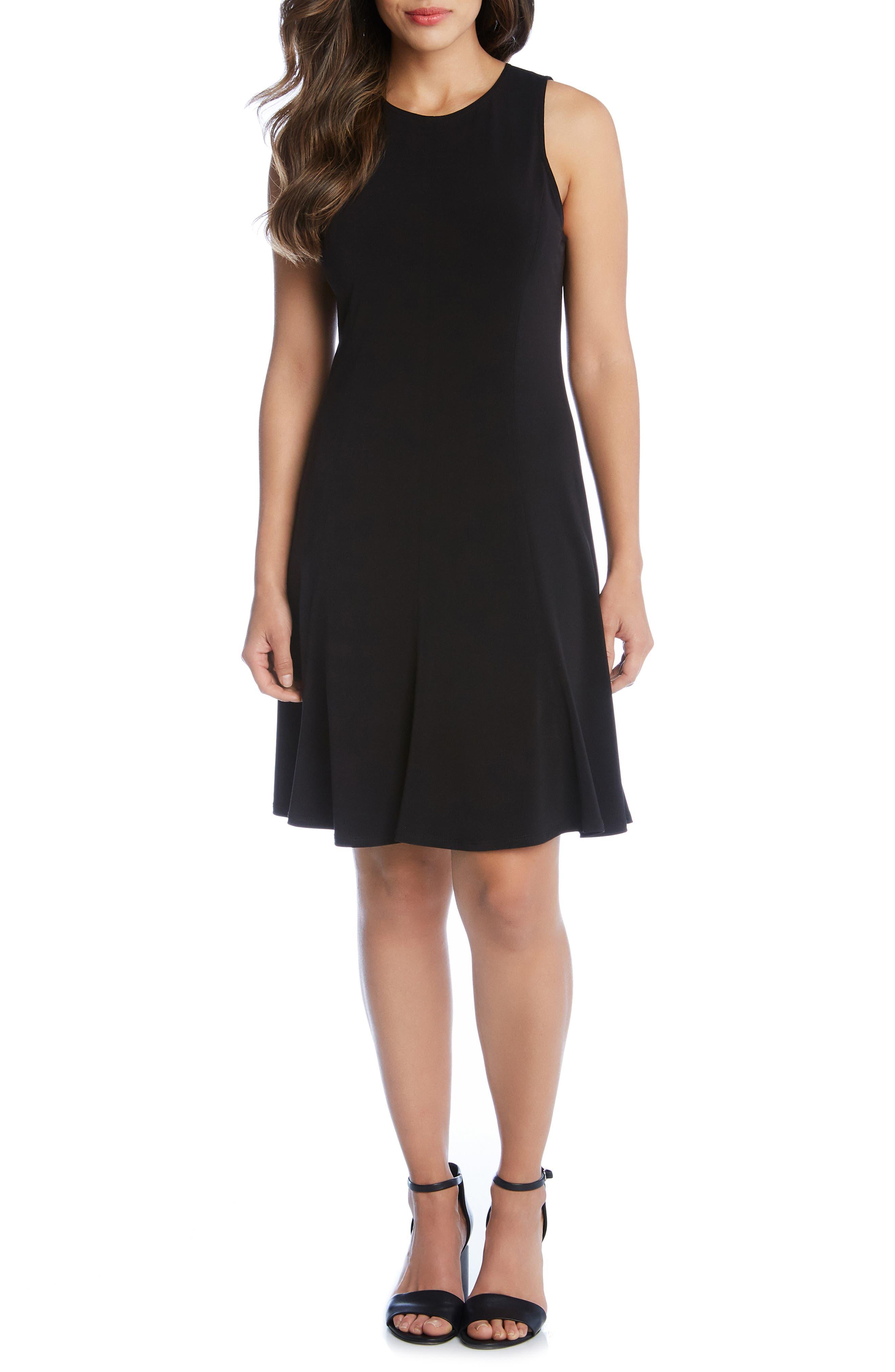 Karen Kane Sleeveless A-Line Dress, Black