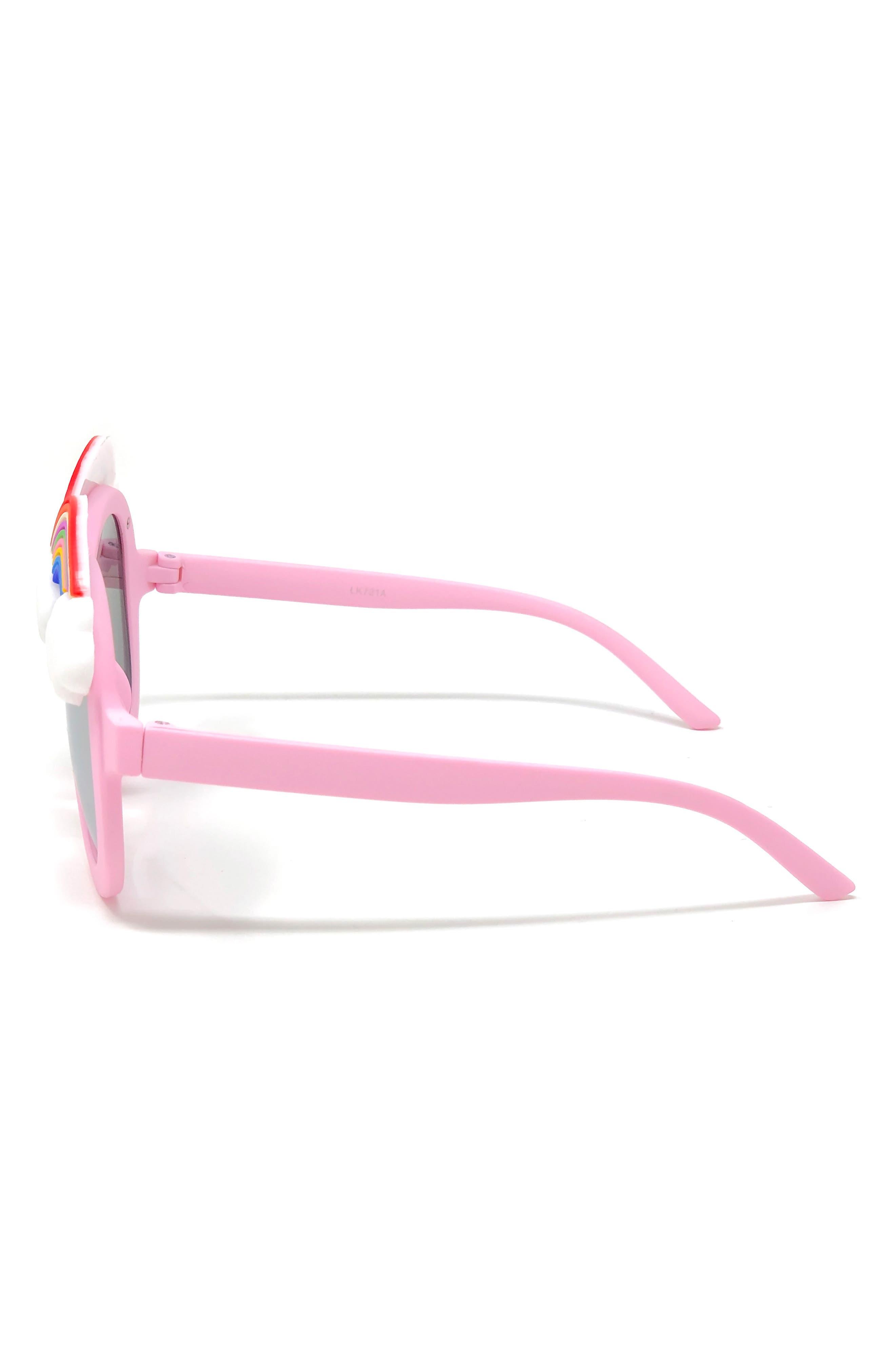Rainbow Mirrored Sunglasses,                             Alternate thumbnail 2, color,                             PINK