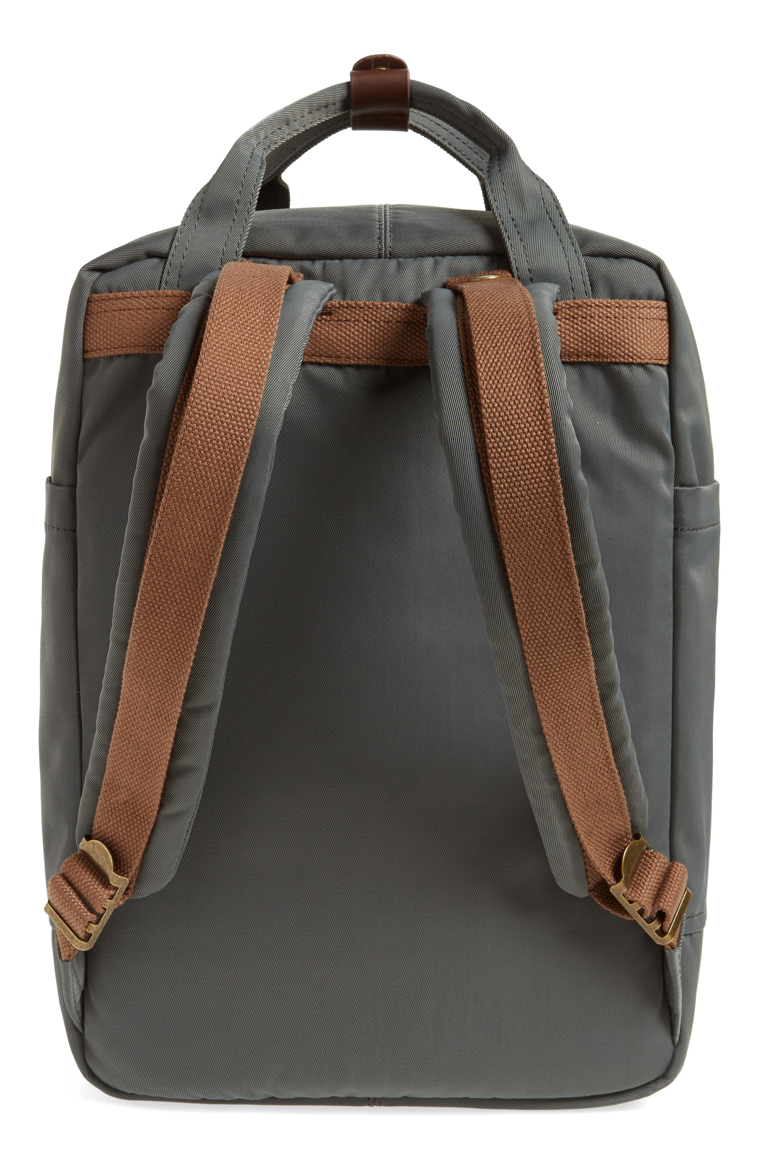 Macaroon Water Resistant Backpack,                             Alternate thumbnail 3, color,                             CHARCOAL