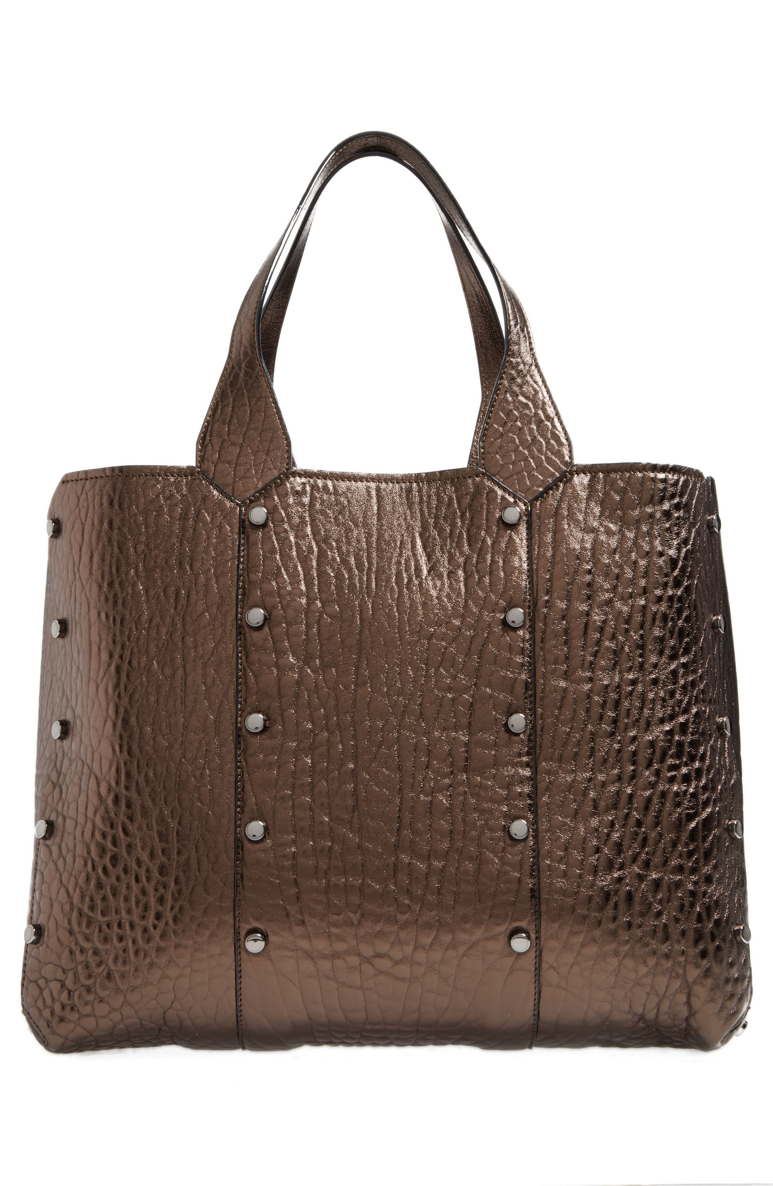 Lockett Metallic Leather Shopper,                             Alternate thumbnail 3, color,                             200