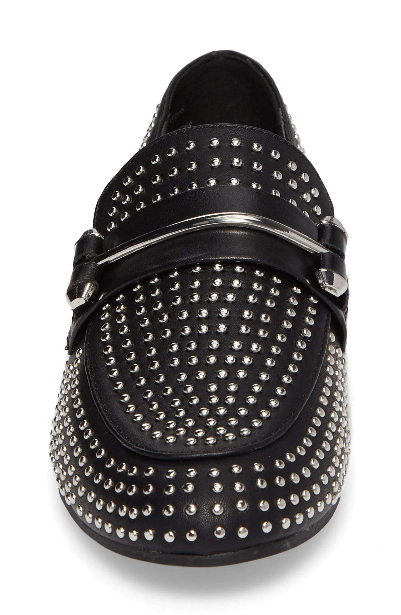 Kast Studded Loafer,                             Alternate thumbnail 4, color,                             001