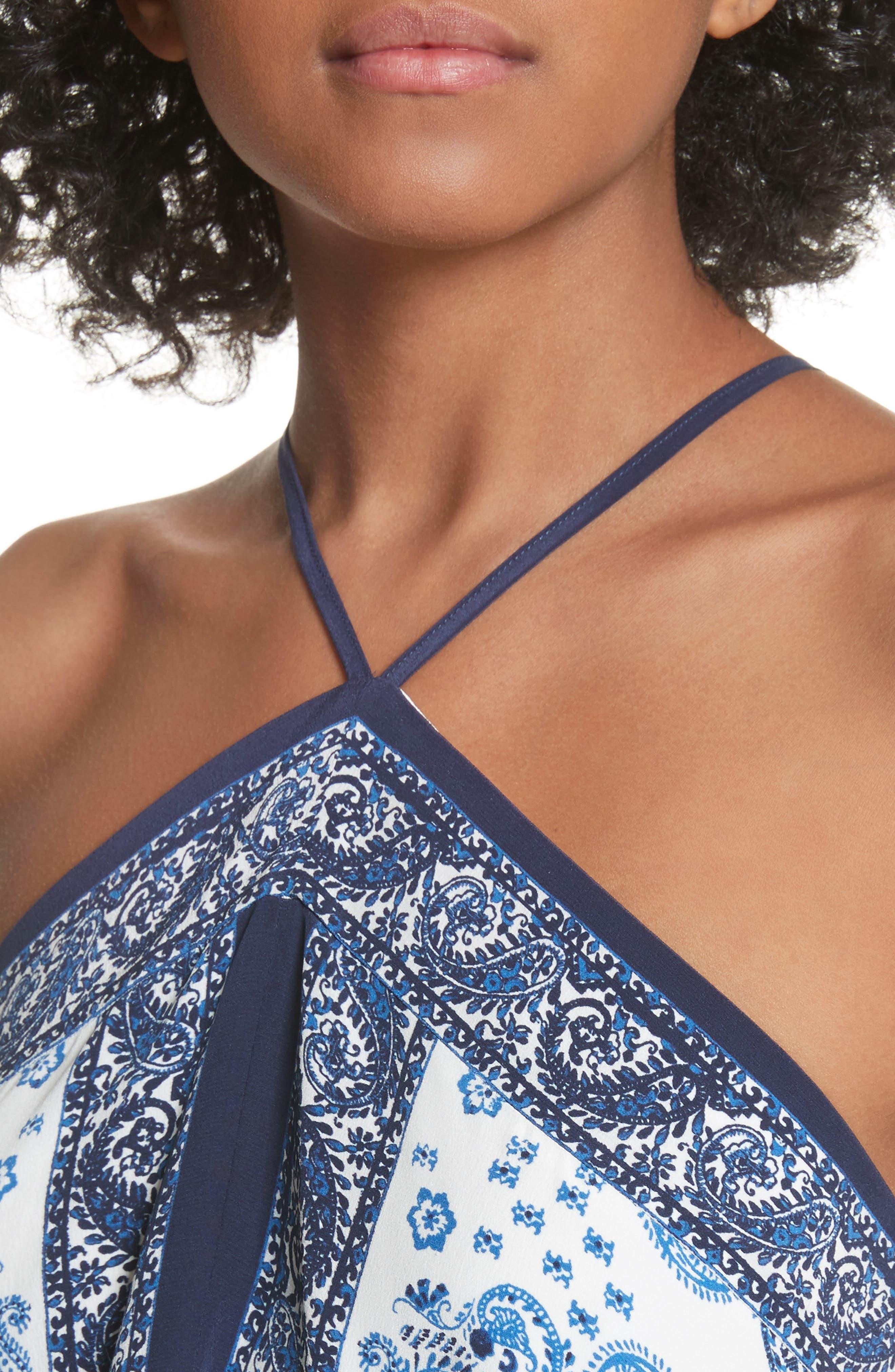 Damesha Silk Top,                             Alternate thumbnail 4, color,                             420