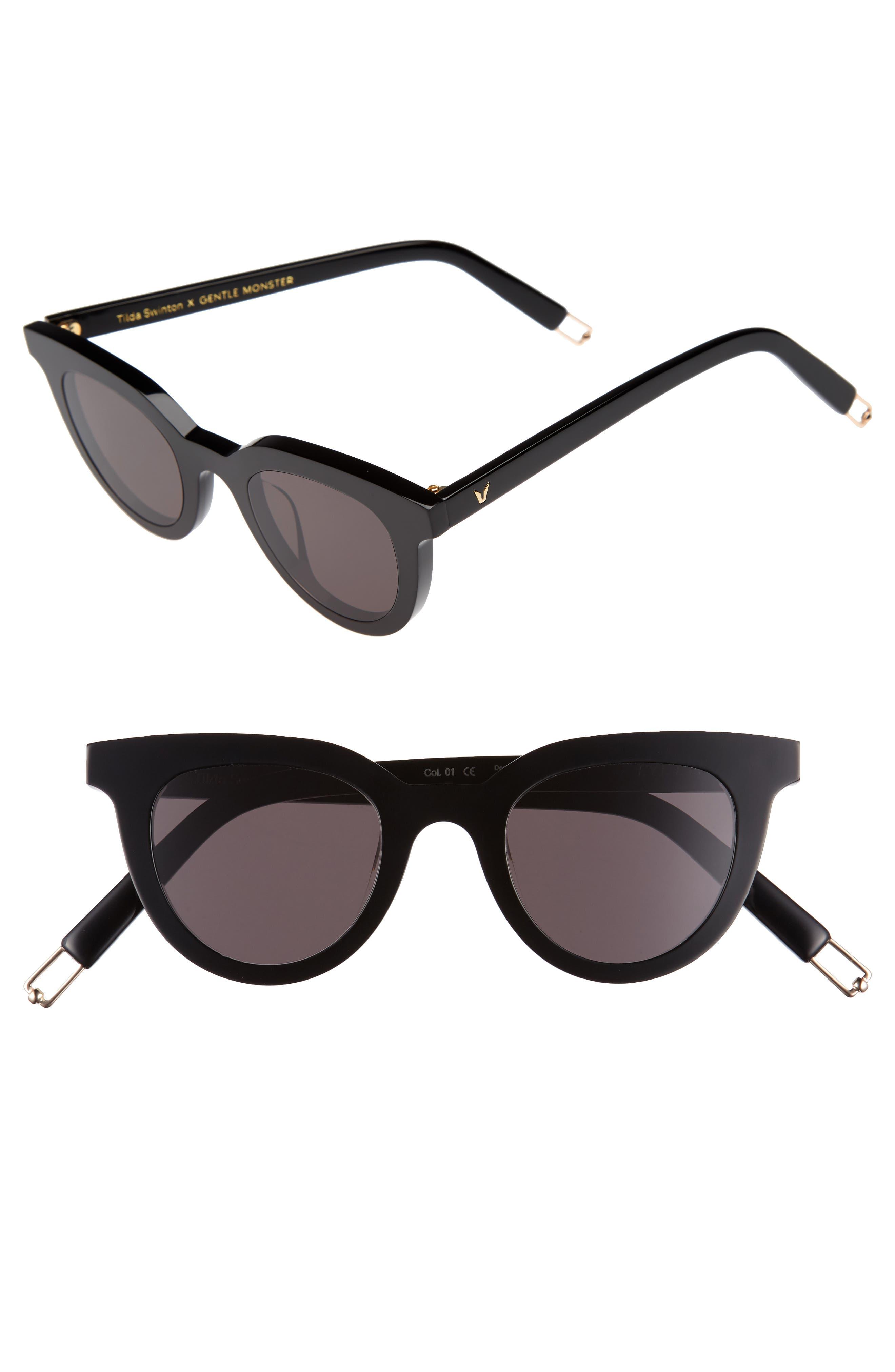 GENTLE MONSTER,                             Eye Eye 45mm Cat Eye Sunglasses,                             Main thumbnail 1, color,                             001
