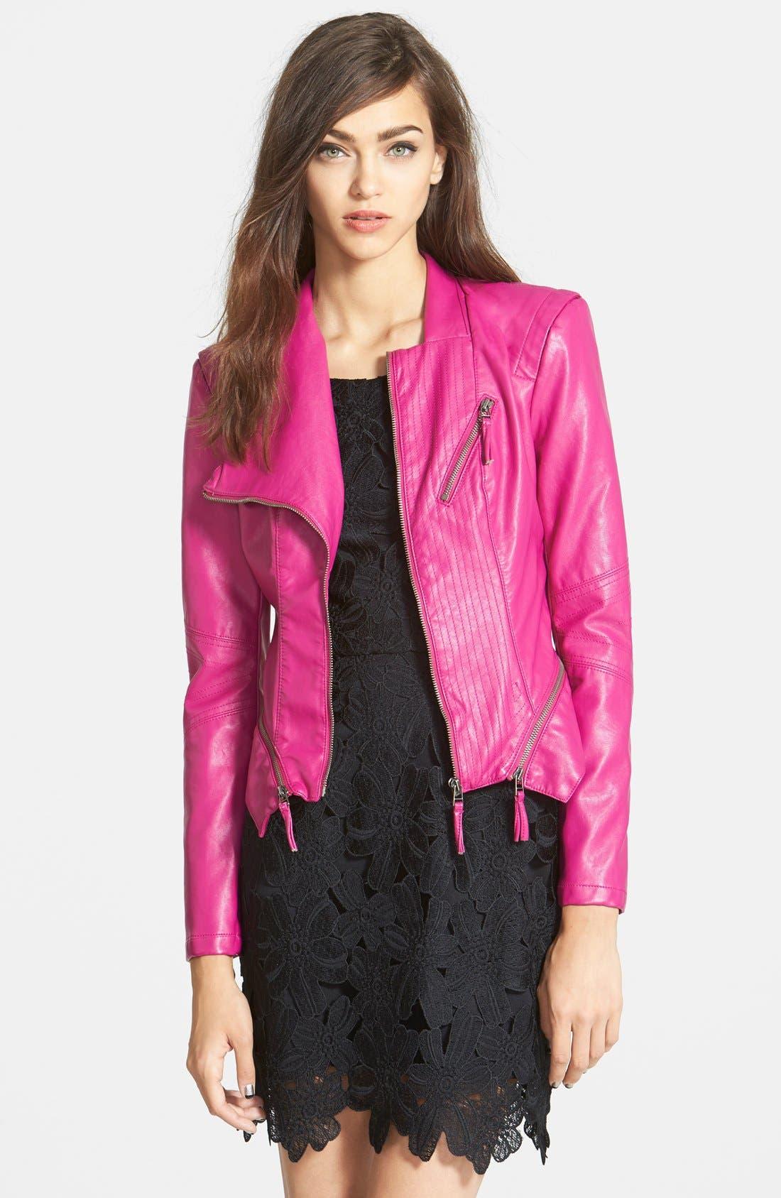 Faux Leather Jacket,                             Main thumbnail 10, color,
