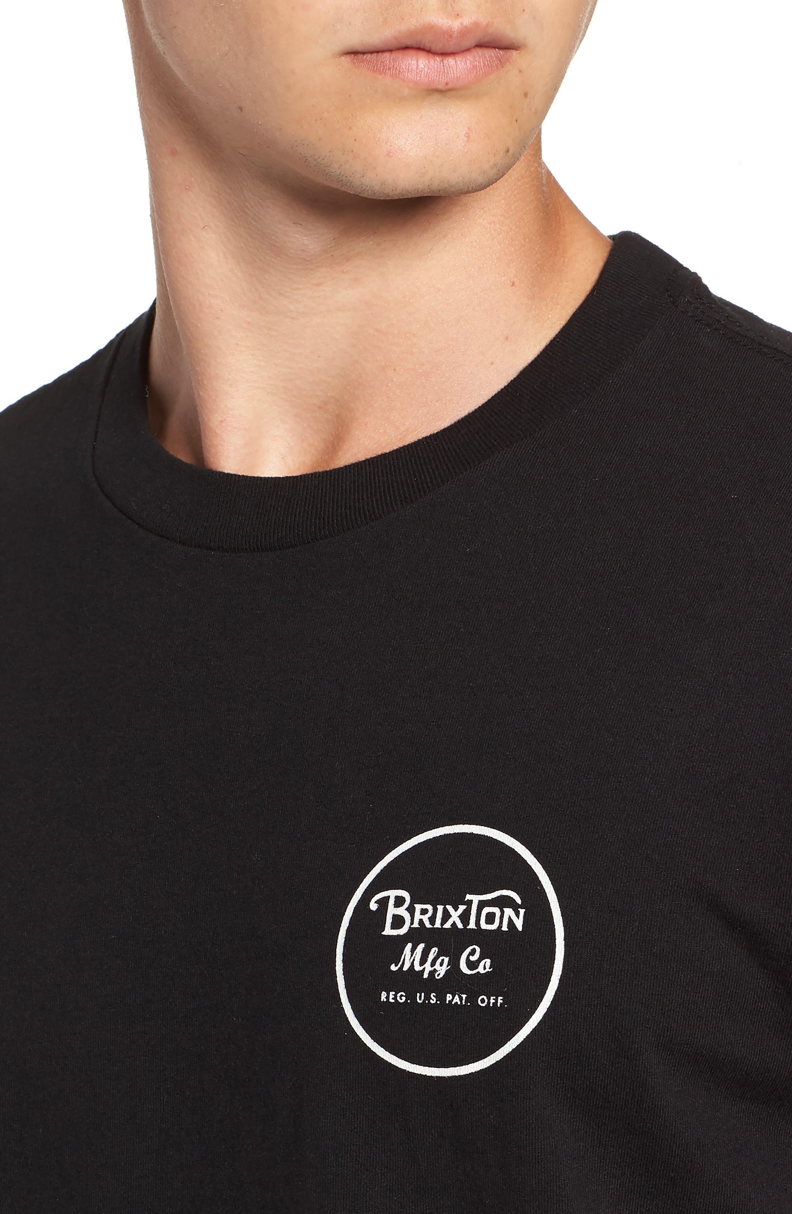 Wheeler II T-Shirt,                             Alternate thumbnail 4, color,                             BLACK