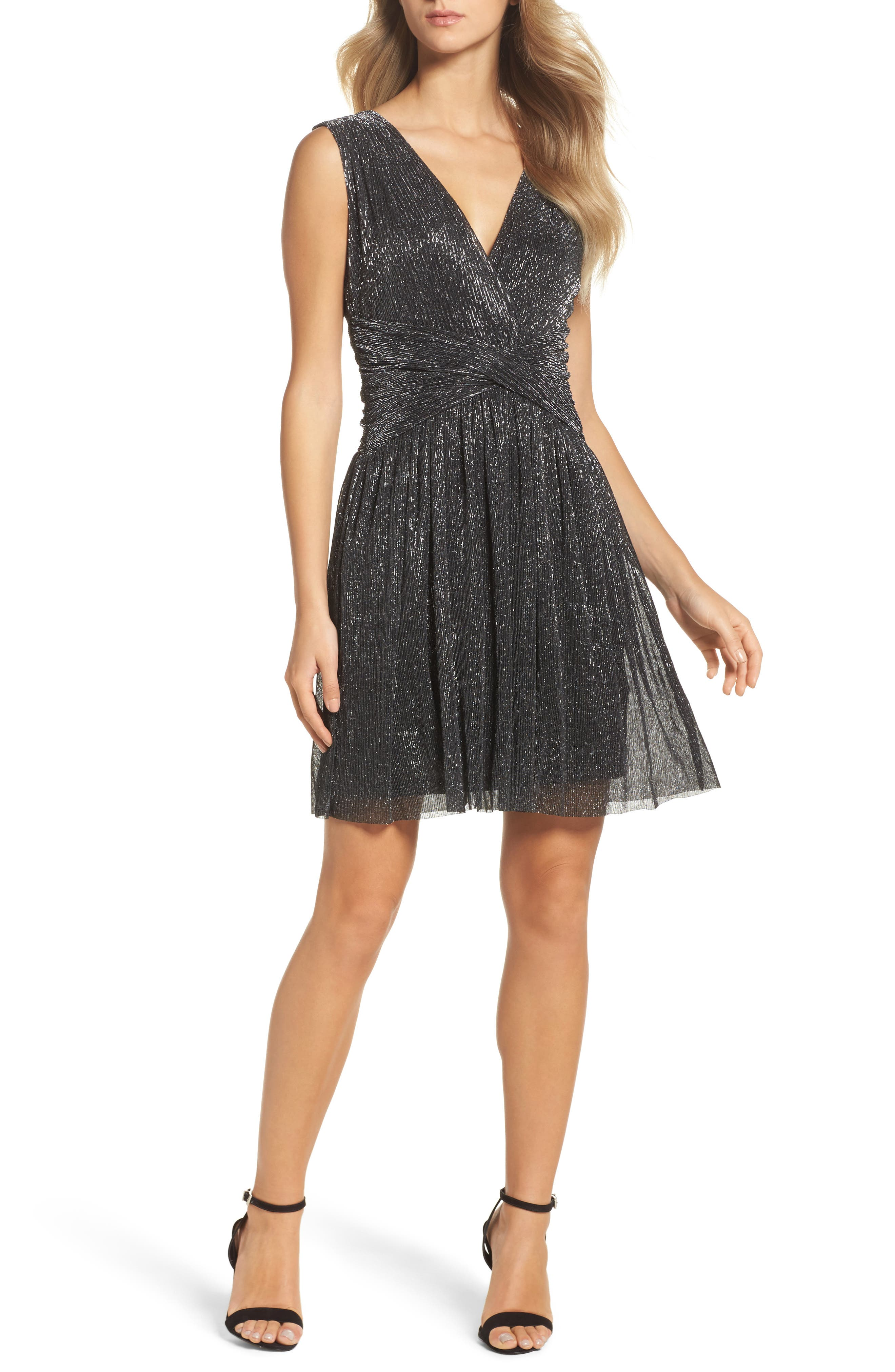 Marcelle Fit & Flare Dress,                             Main thumbnail 1, color,                             001