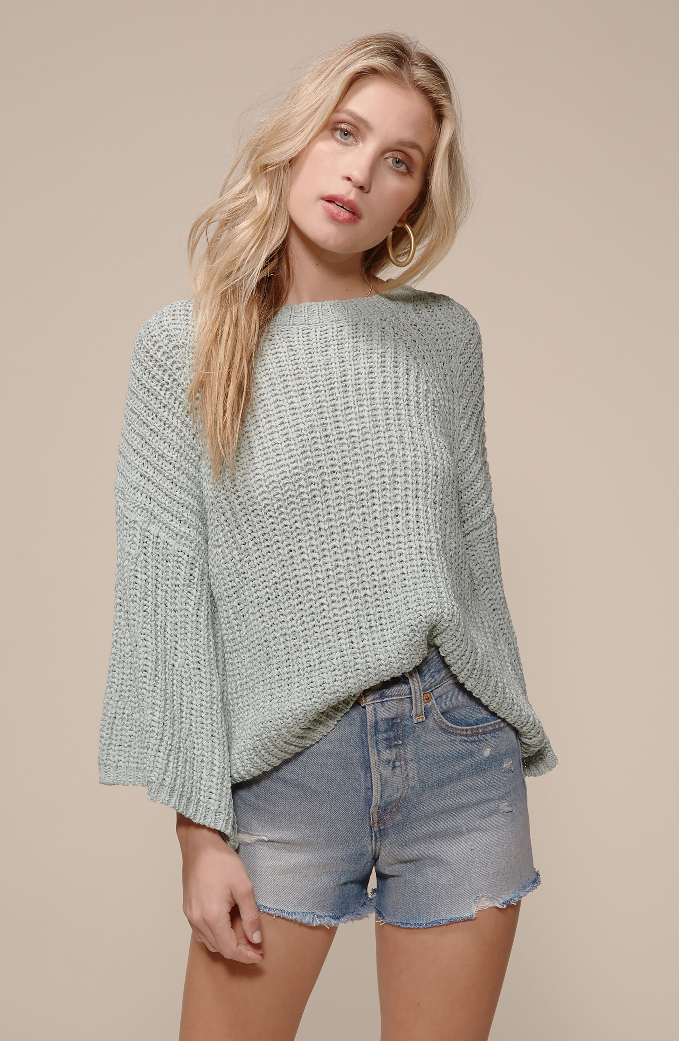 Bell Sleeve Sweater,                             Alternate thumbnail 9, color,                             280