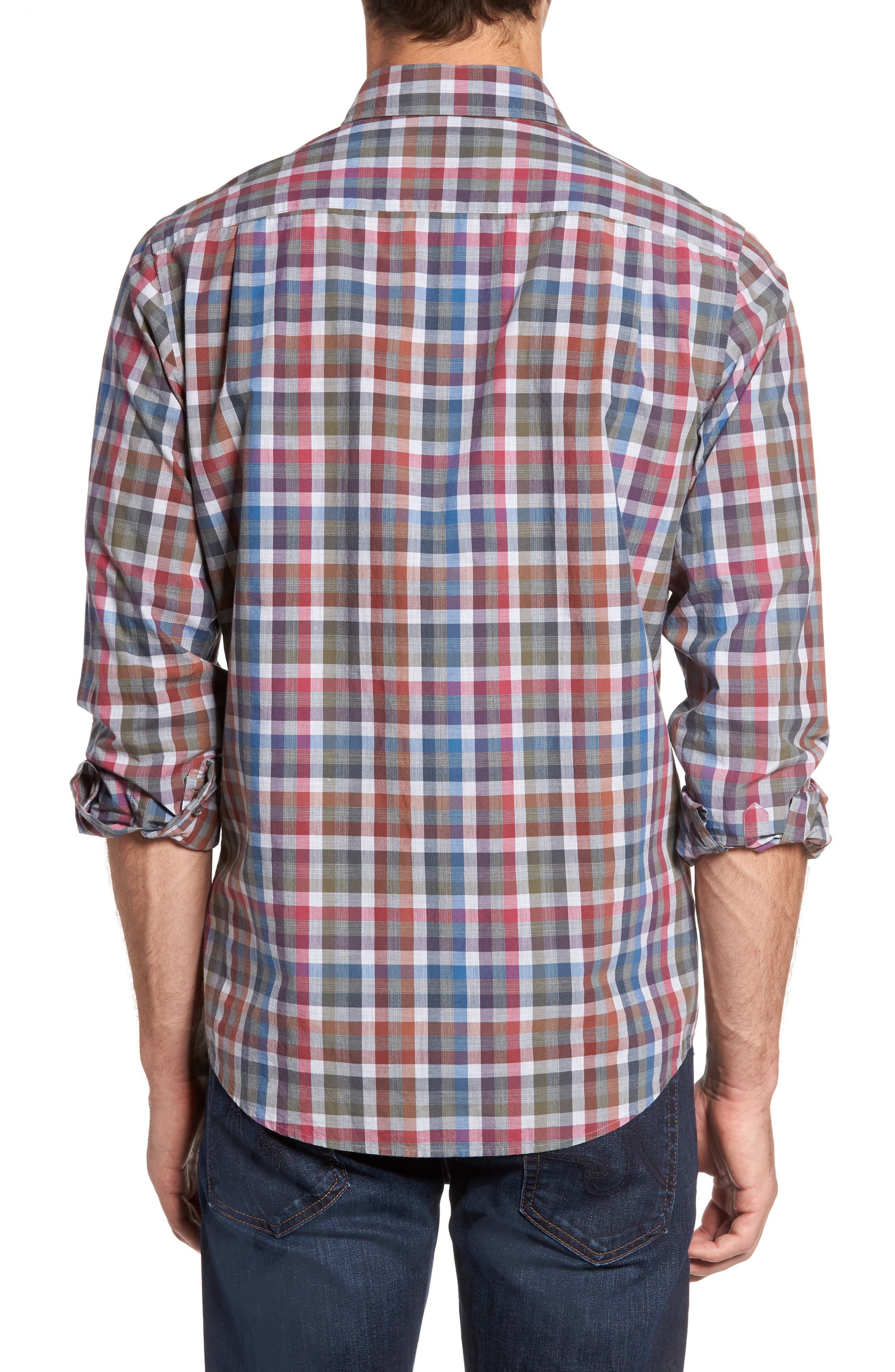 Brookview Sports Fit Plaid Sport Shirt,                             Alternate thumbnail 2, color,                             419