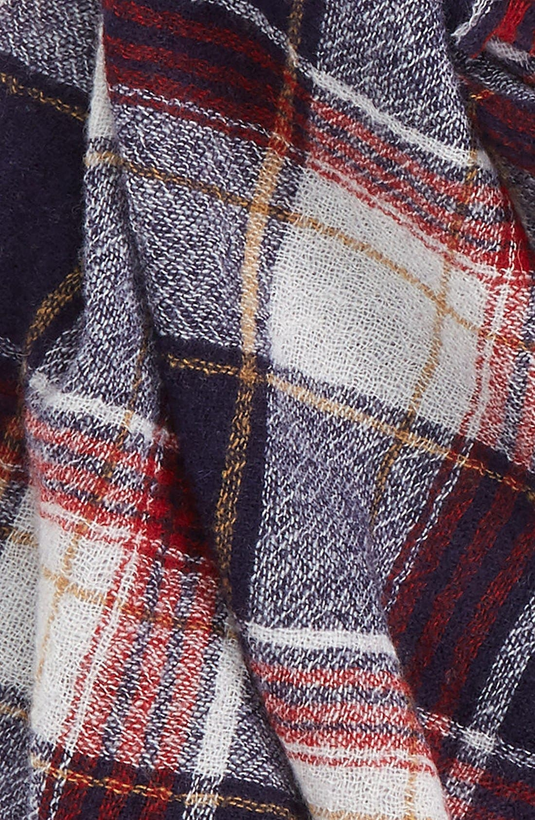 'Range' Plaid Wool Scarf,                             Alternate thumbnail 2, color,                             001