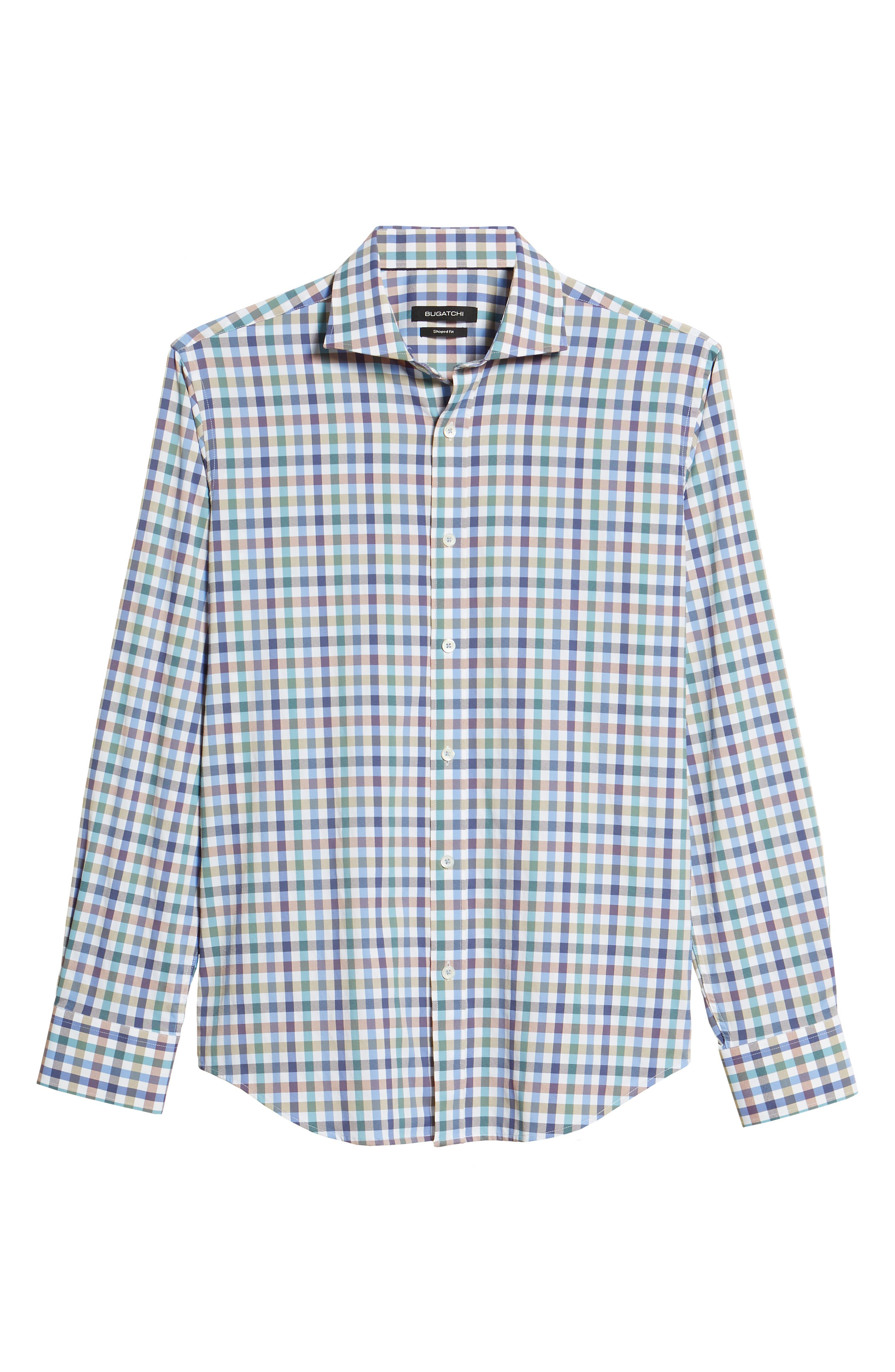 Shaped Fit Check Sport Shirt,                             Alternate thumbnail 6, color,                             208