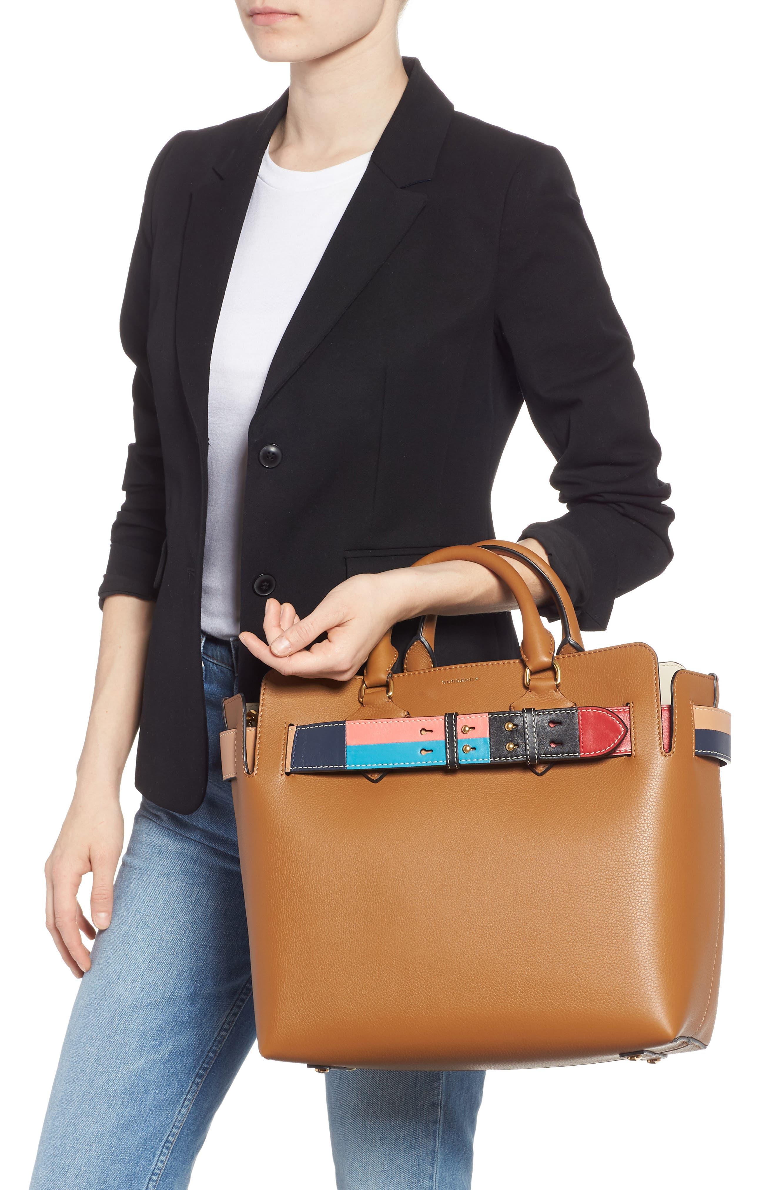 Medium Belt Bag Leather Tote,                             Alternate thumbnail 2, color,                             COGNAC
