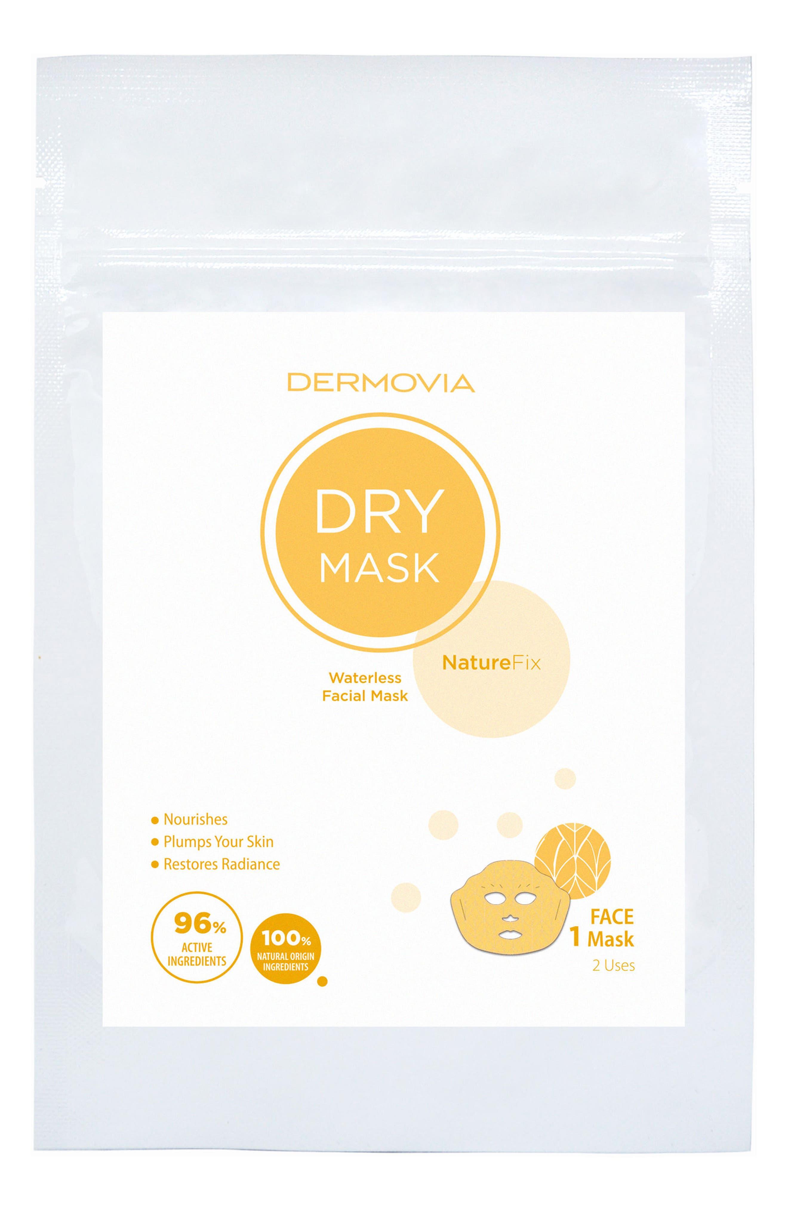 DRY Mask NatureFix Waterless Facial Mask,                             Main thumbnail 1, color,                             NO COLOR