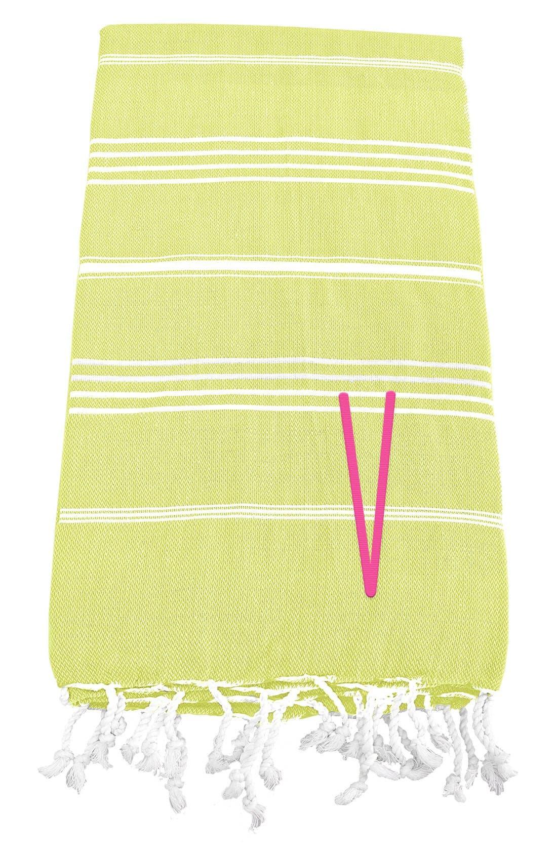 Monogram Turkish Cotton Towel,                             Main thumbnail 51, color,