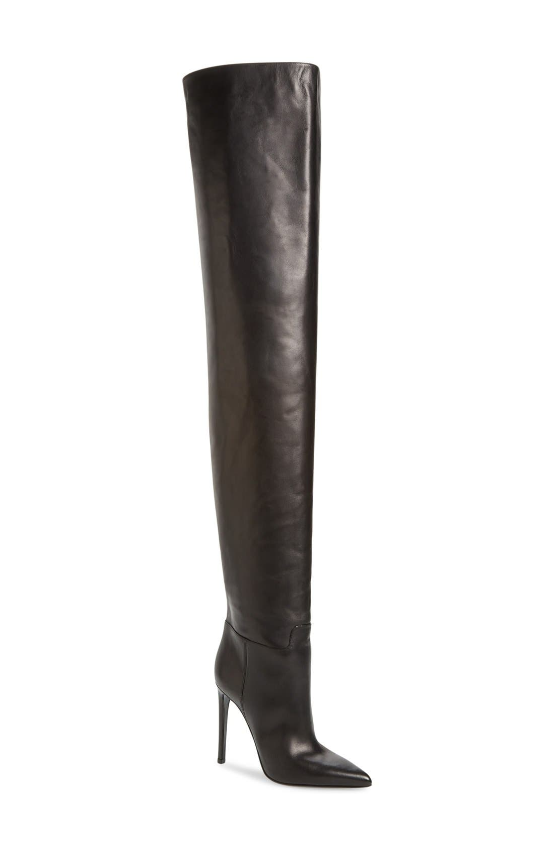 Over the Knee Boot,                             Main thumbnail 1, color,                             001