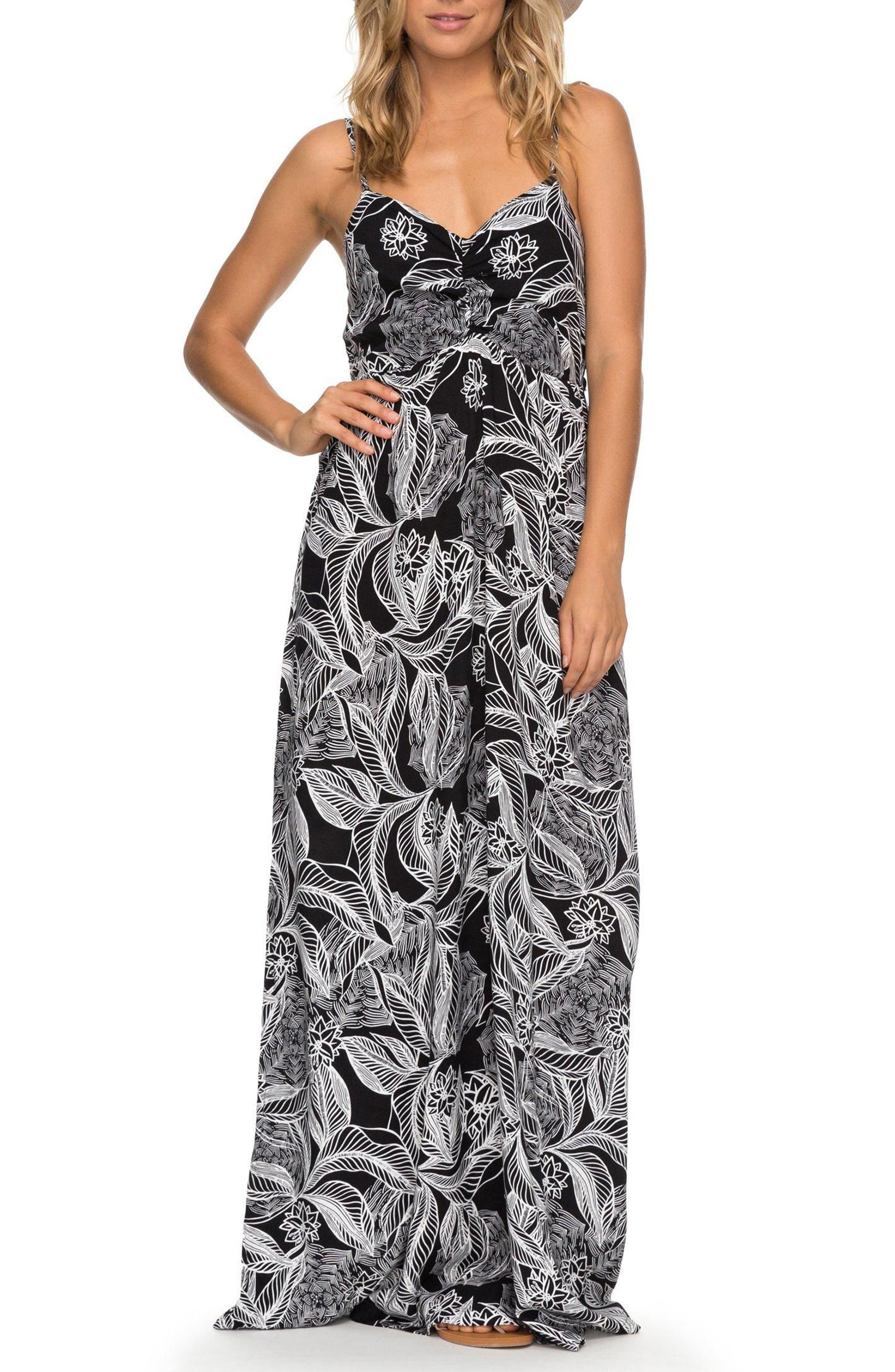 Brilliant Stars Print Maxi Dress,                             Main thumbnail 1, color,                             002