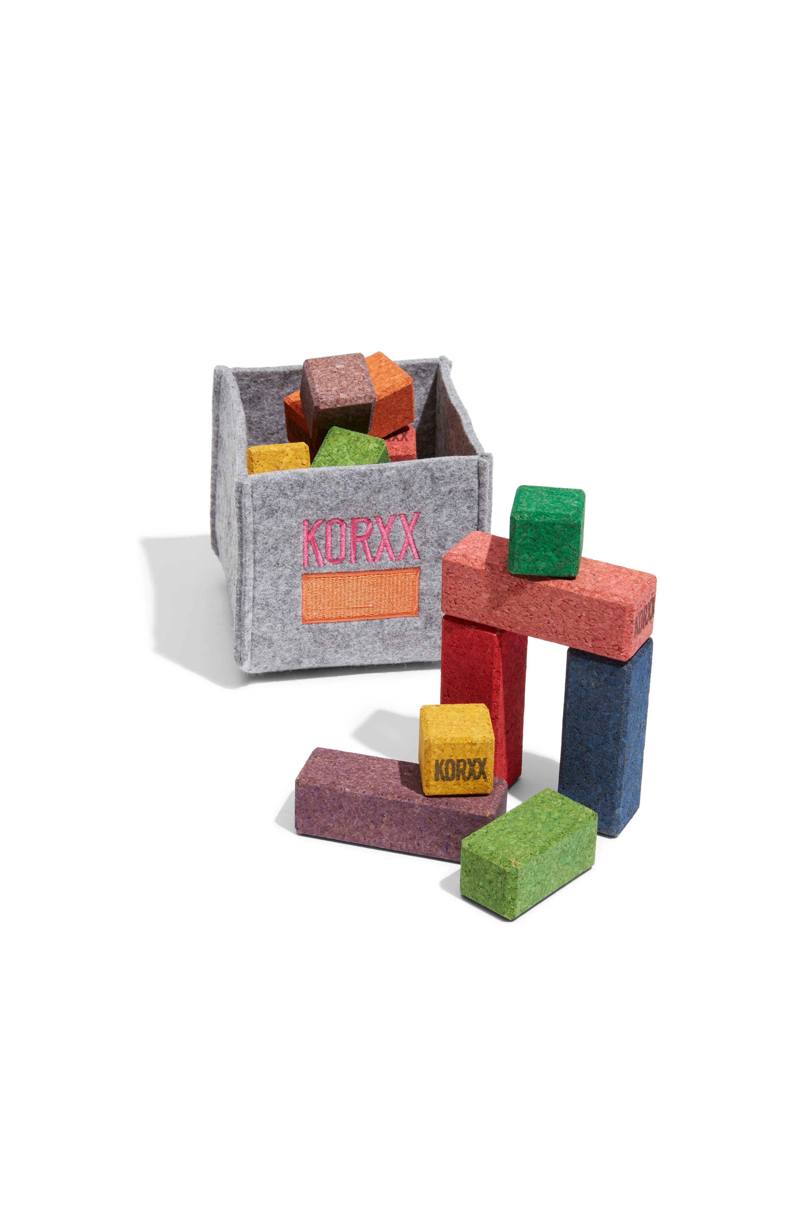 17-Piece Eco-Brix with Storage Bin,                             Main thumbnail 1, color,                             ASSORTED