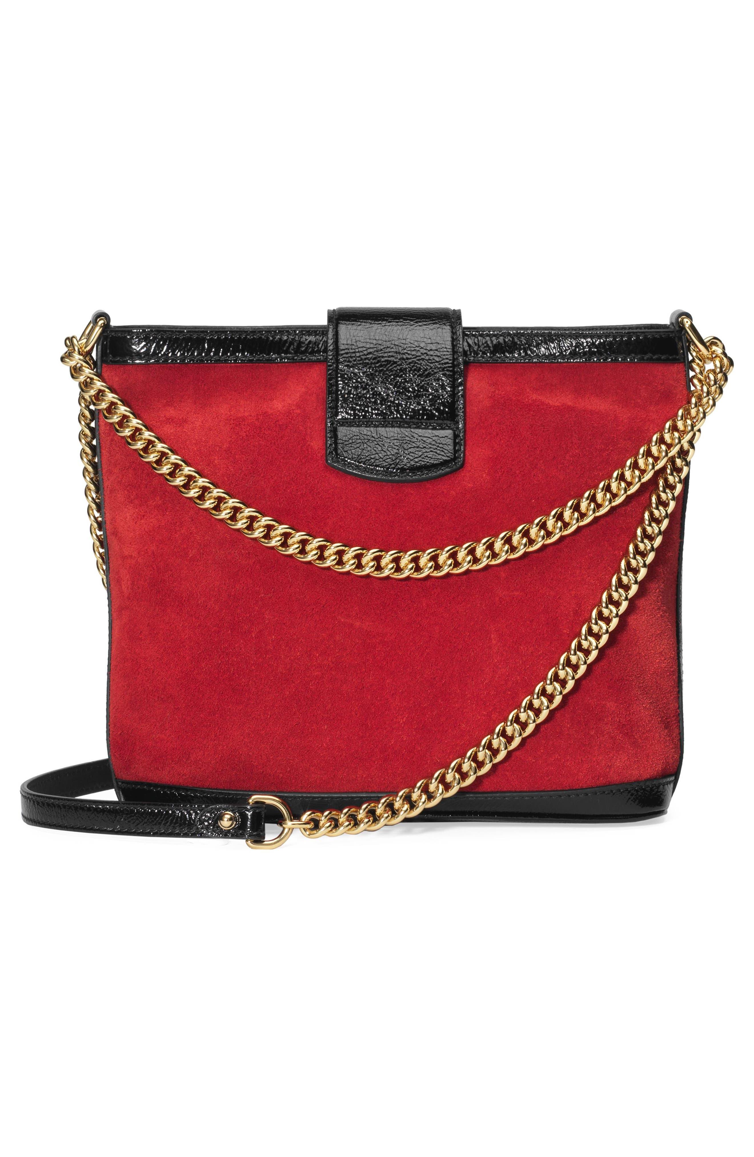 GUCCI,                             Medium Dionysus Suede Shoulder Bag,                             Alternate thumbnail 2, color,                             HIBISCUS RED/ NERO