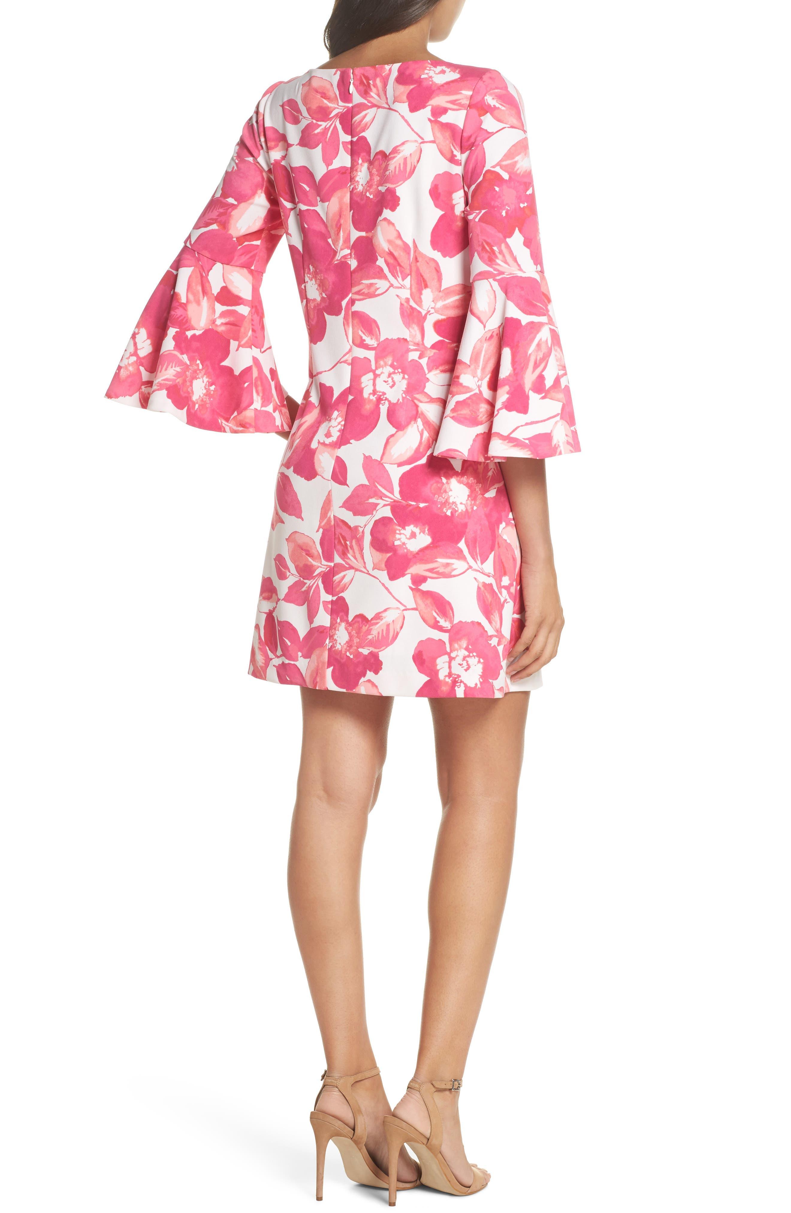 Floral Shift Dress,                             Alternate thumbnail 2, color,                             PINK