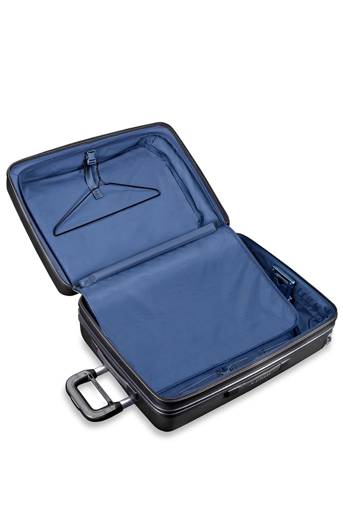 'Sympatico' Expandable Wheeled Packing Case,                             Alternate thumbnail 3, color,                             BLACK