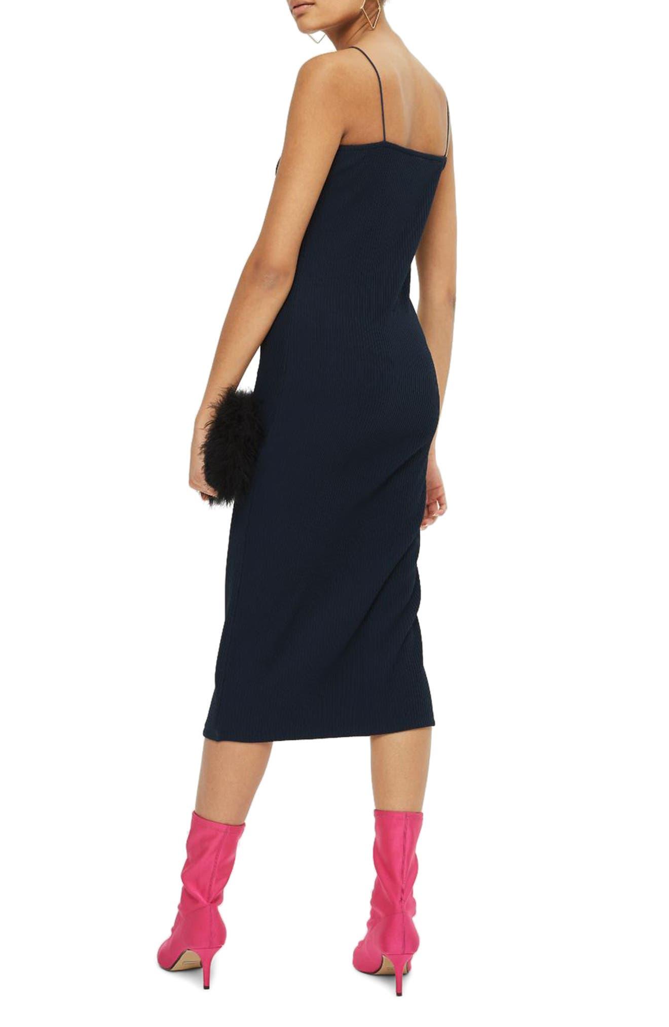 Square Neck Body-Con Midi Dress,                             Alternate thumbnail 6, color,