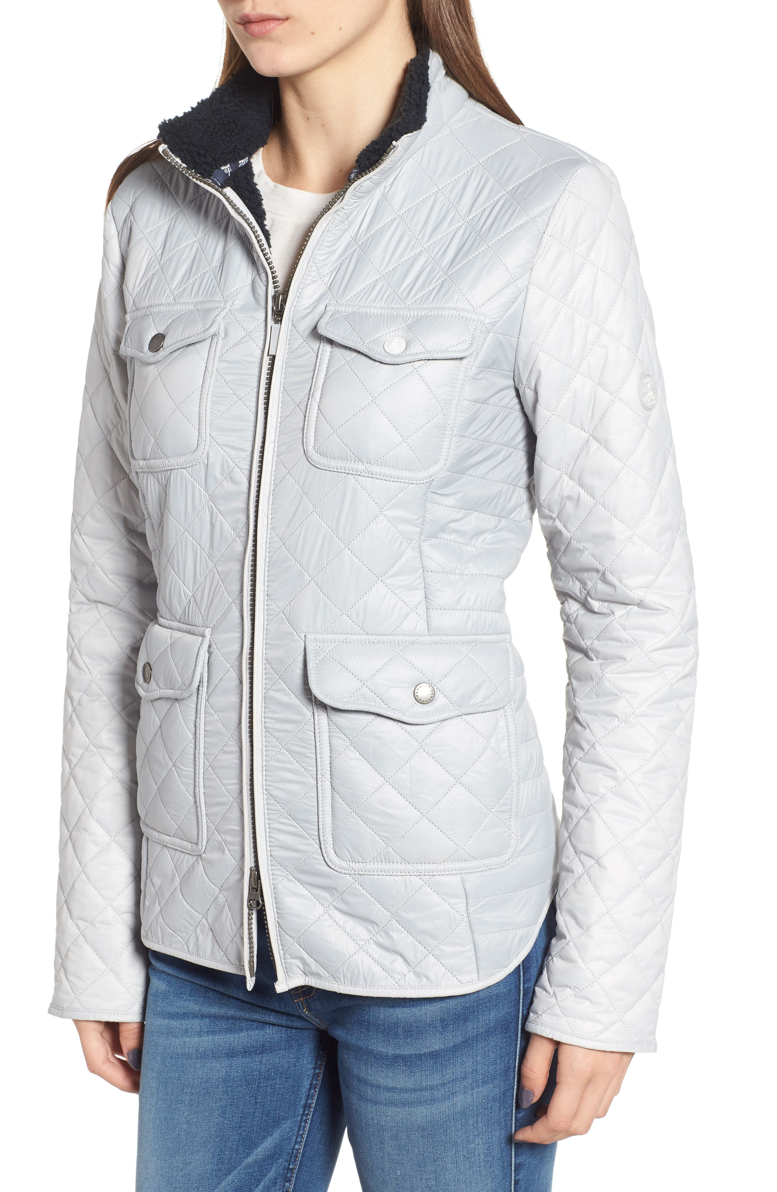 BARBOUR,                             Weymouth Quilted Jacket,                             Alternate thumbnail 4, color,                             100